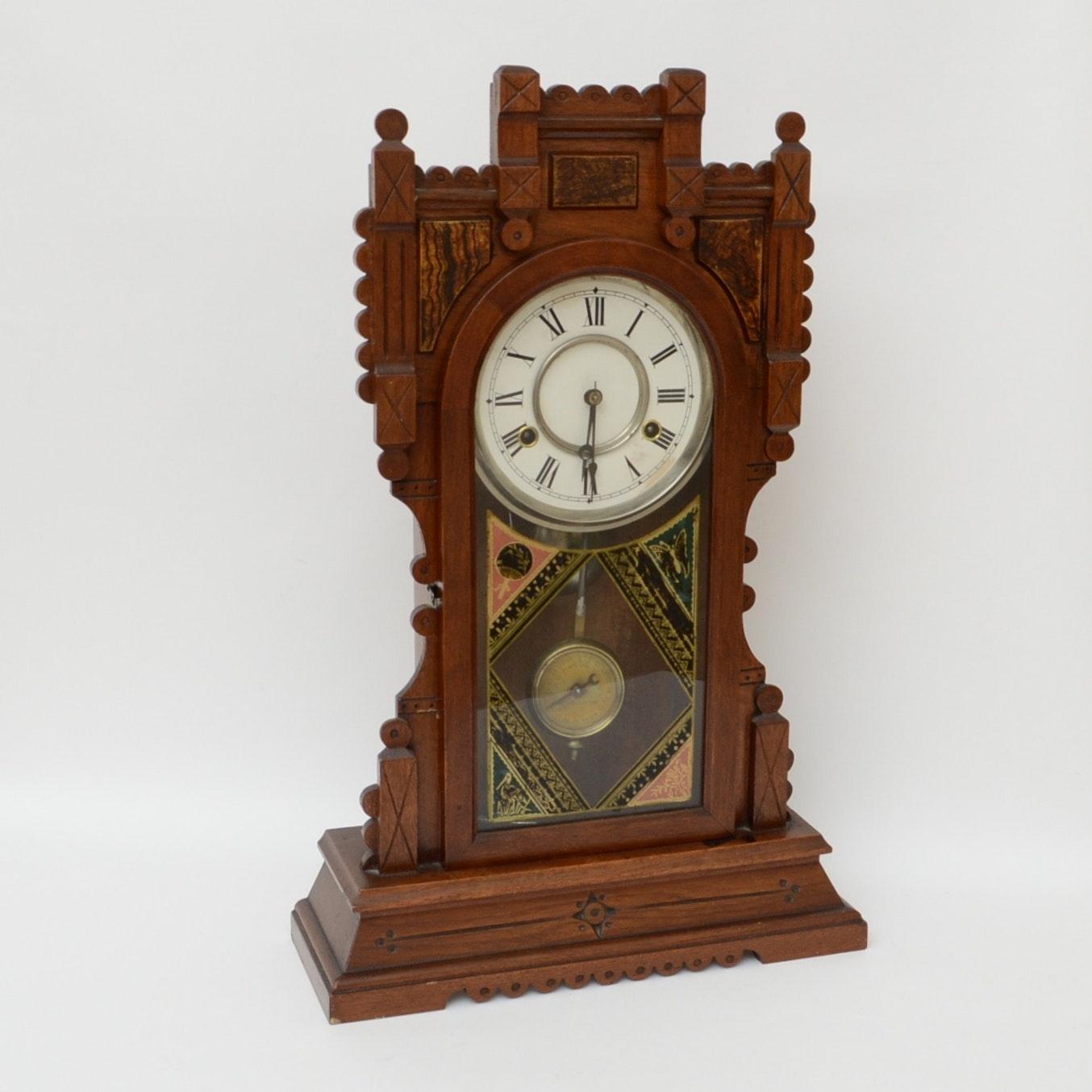 New Haven Clock Co. Eastlake Style Mantel Clock