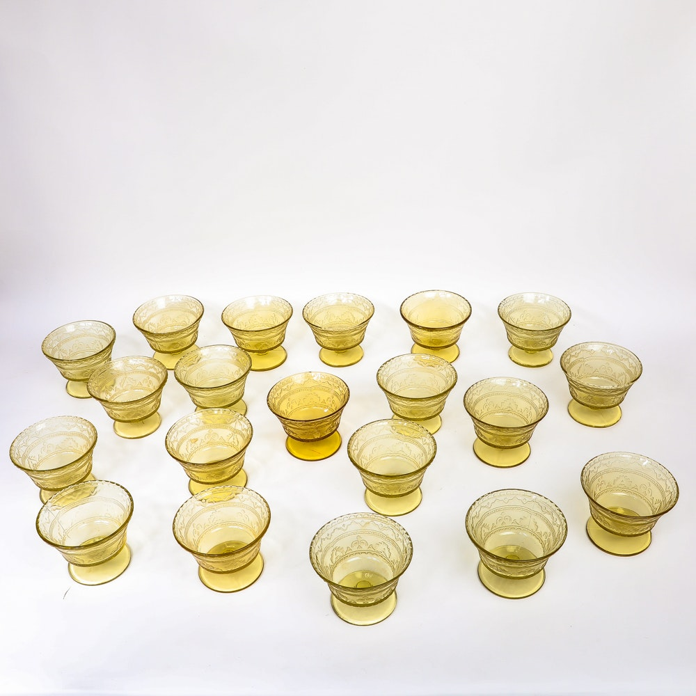 """Patrician"" Sherbet Glasses by Federal Glass"
