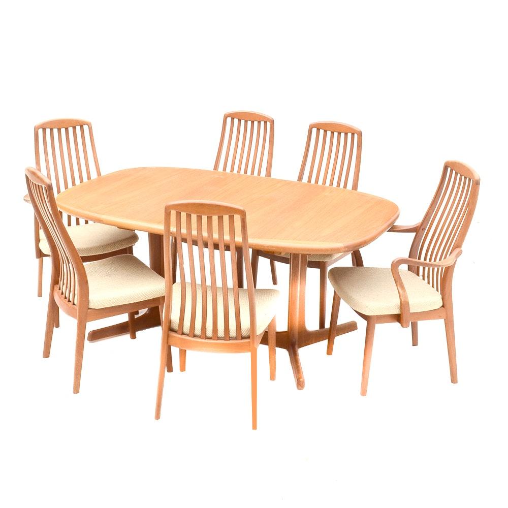 Danish Modern Teak Dining Set By Dyrlund