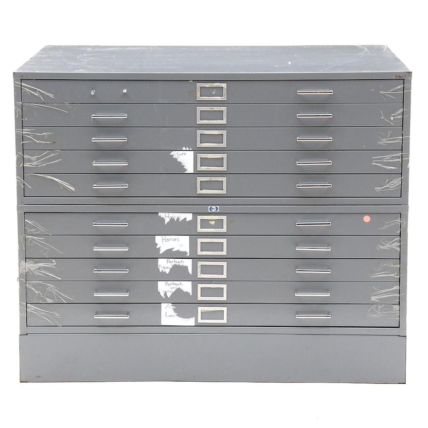 Grey Steel Flat File Storage Cabinet