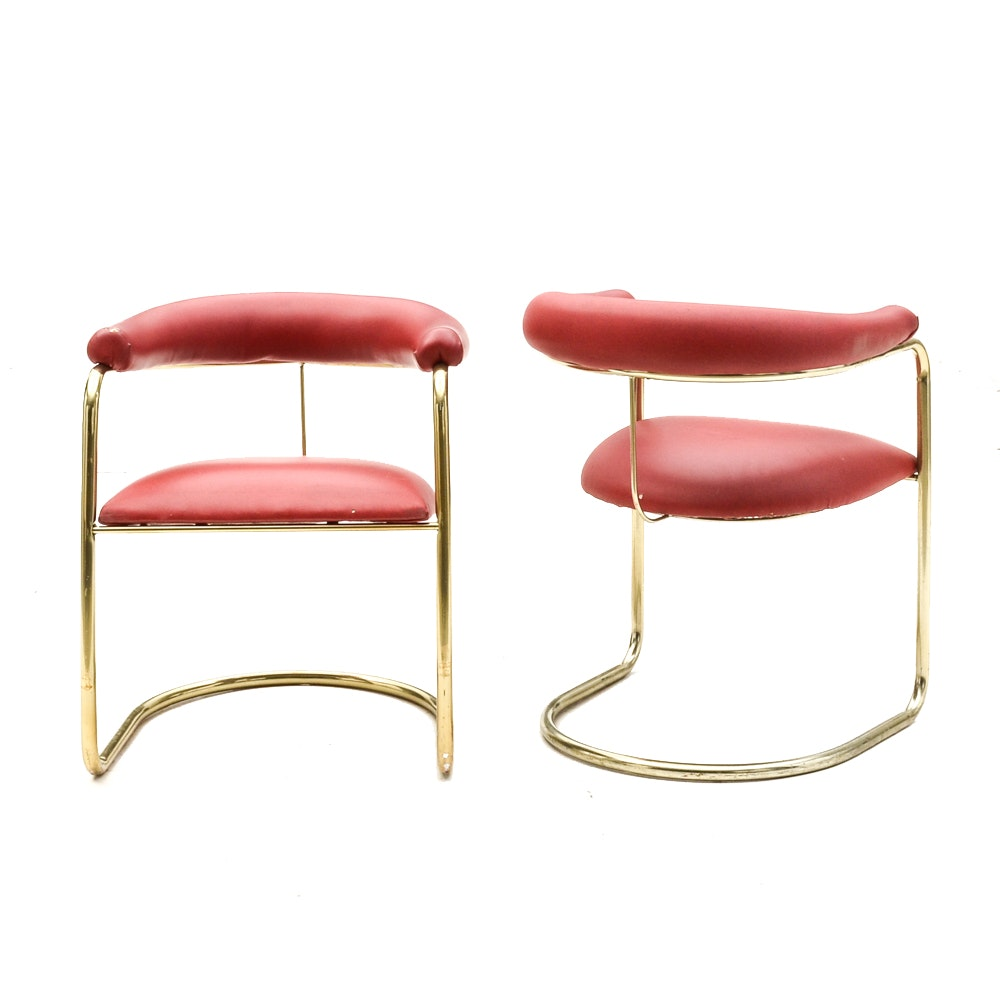 Pair Of Modernist Arm Chairs Designed By Anton Lorenz For Thonet