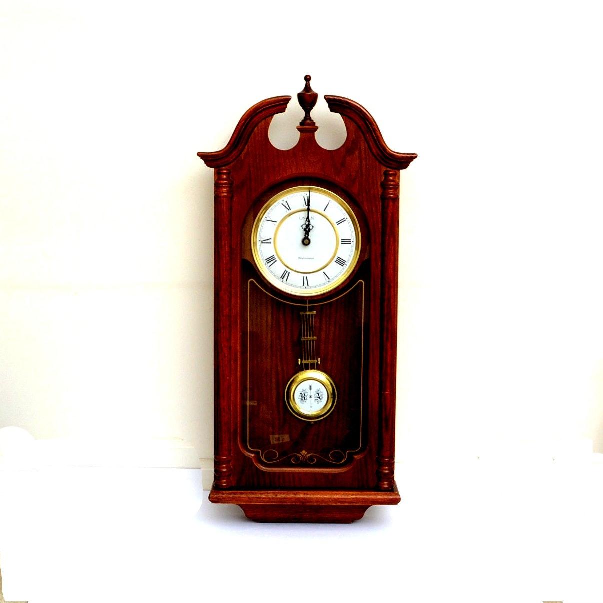 Linden Westminster Oak Wall Clock