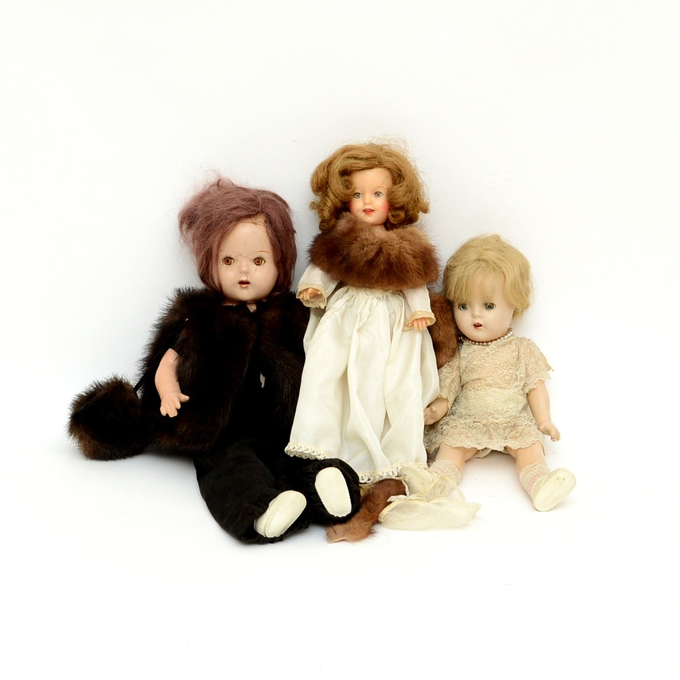 Antique Doll Grouping