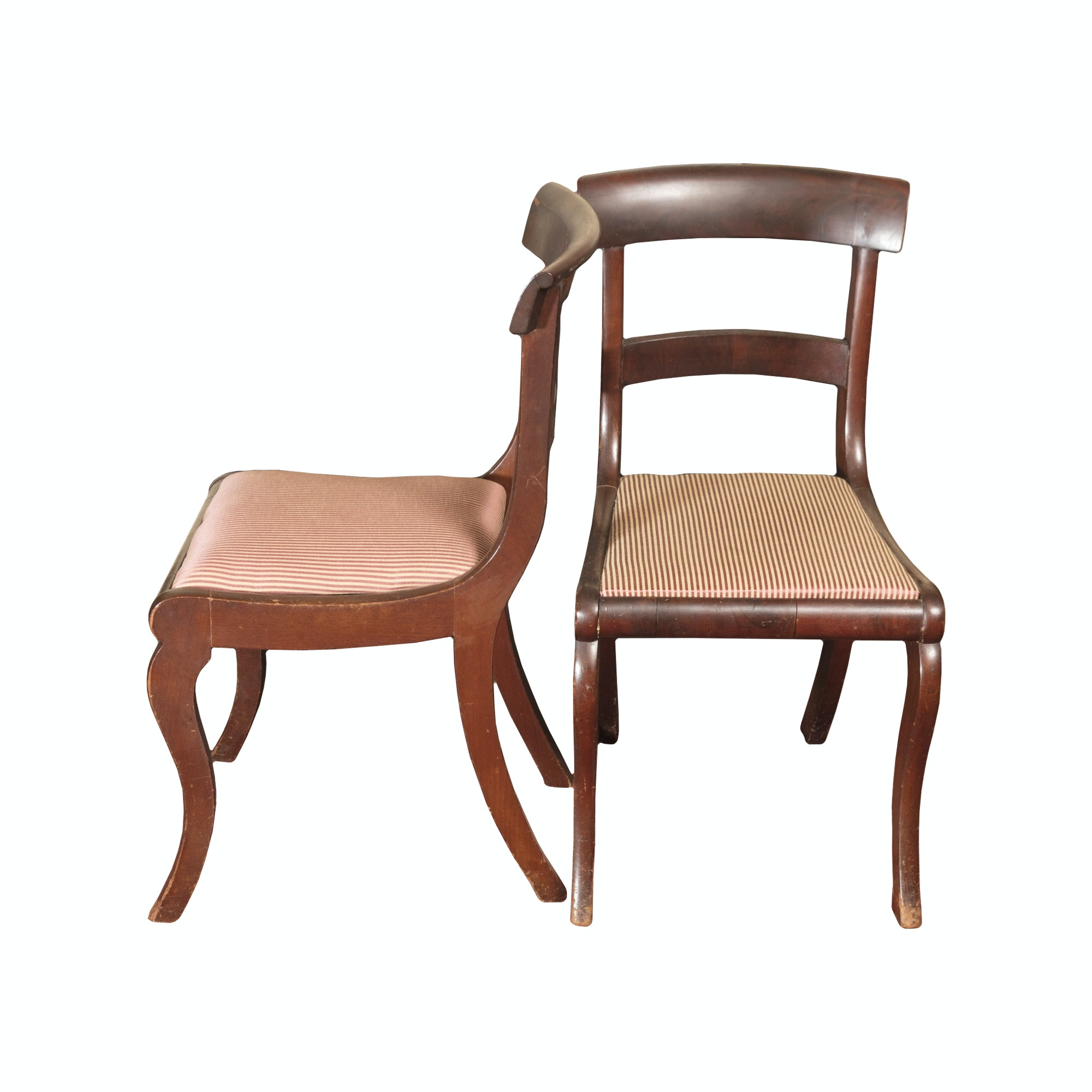 Antique Classical Mahogany Side Chairs