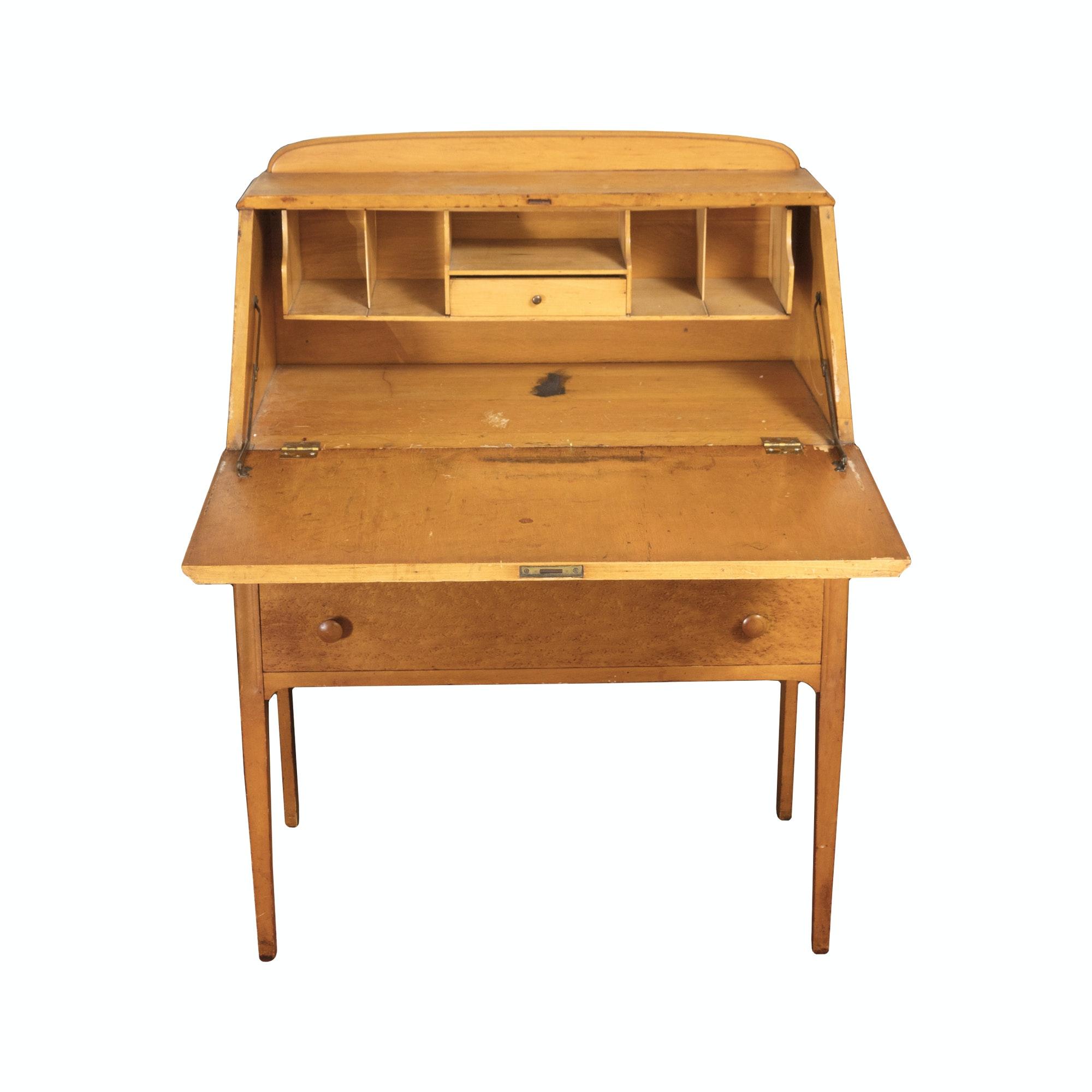 Vintage Slant Front Secretary Desk