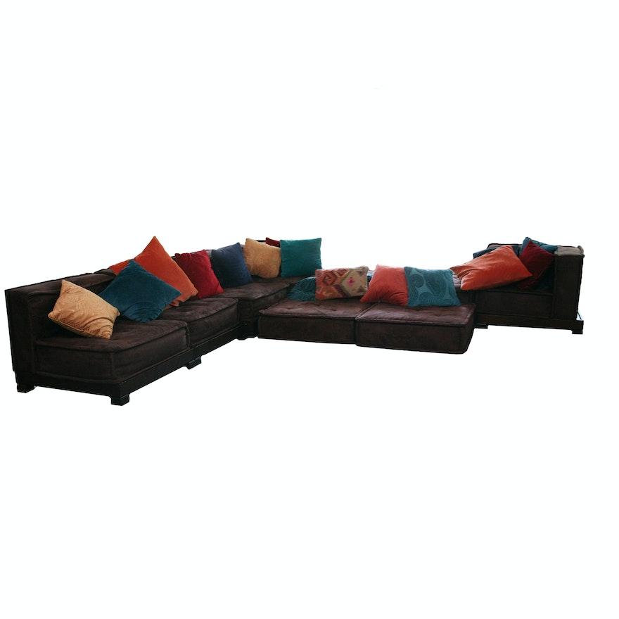 Superb Pottery Barn Teen Cushy Lounge Sectional Sofa With Throw Pillow A Creativecarmelina Interior Chair Design Creativecarmelinacom