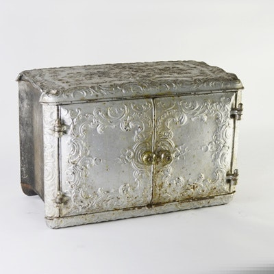 Vintage Heavy Cast Iron Box