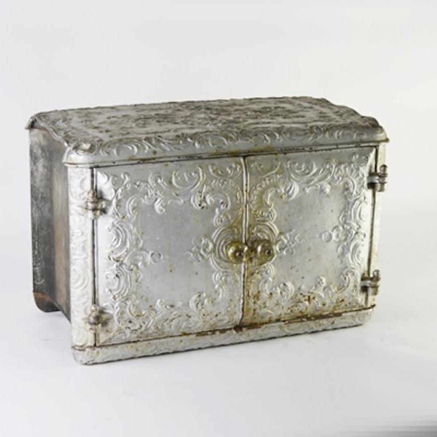 Vintage Heavy Cast Iron Box