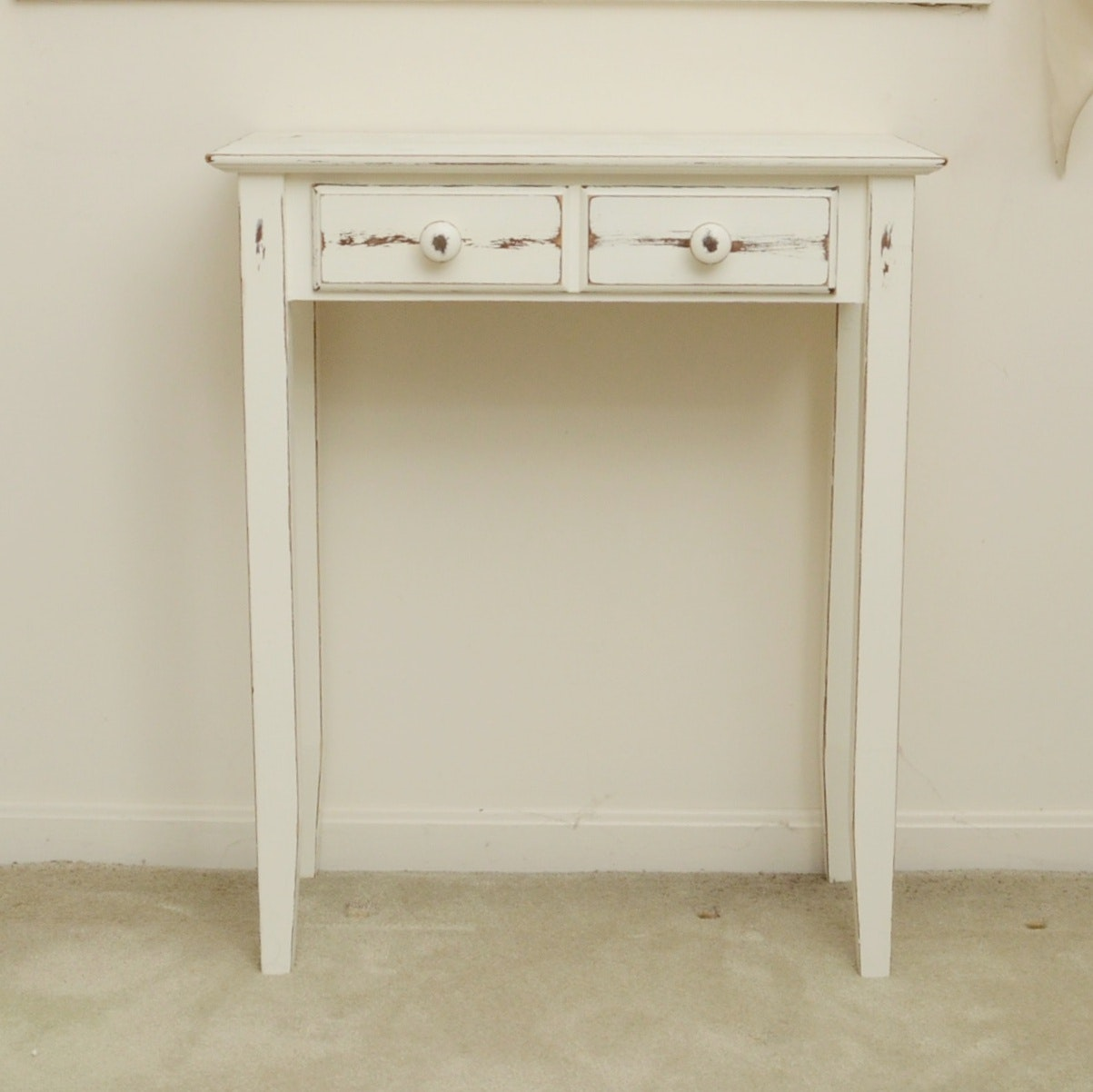 Modern Made White Wash Shabby Chic TabLe