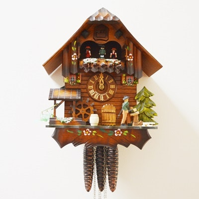 """Vintage R. Rogers """"Edelweiss"""" Chalet Style Cuckoo Clock"""