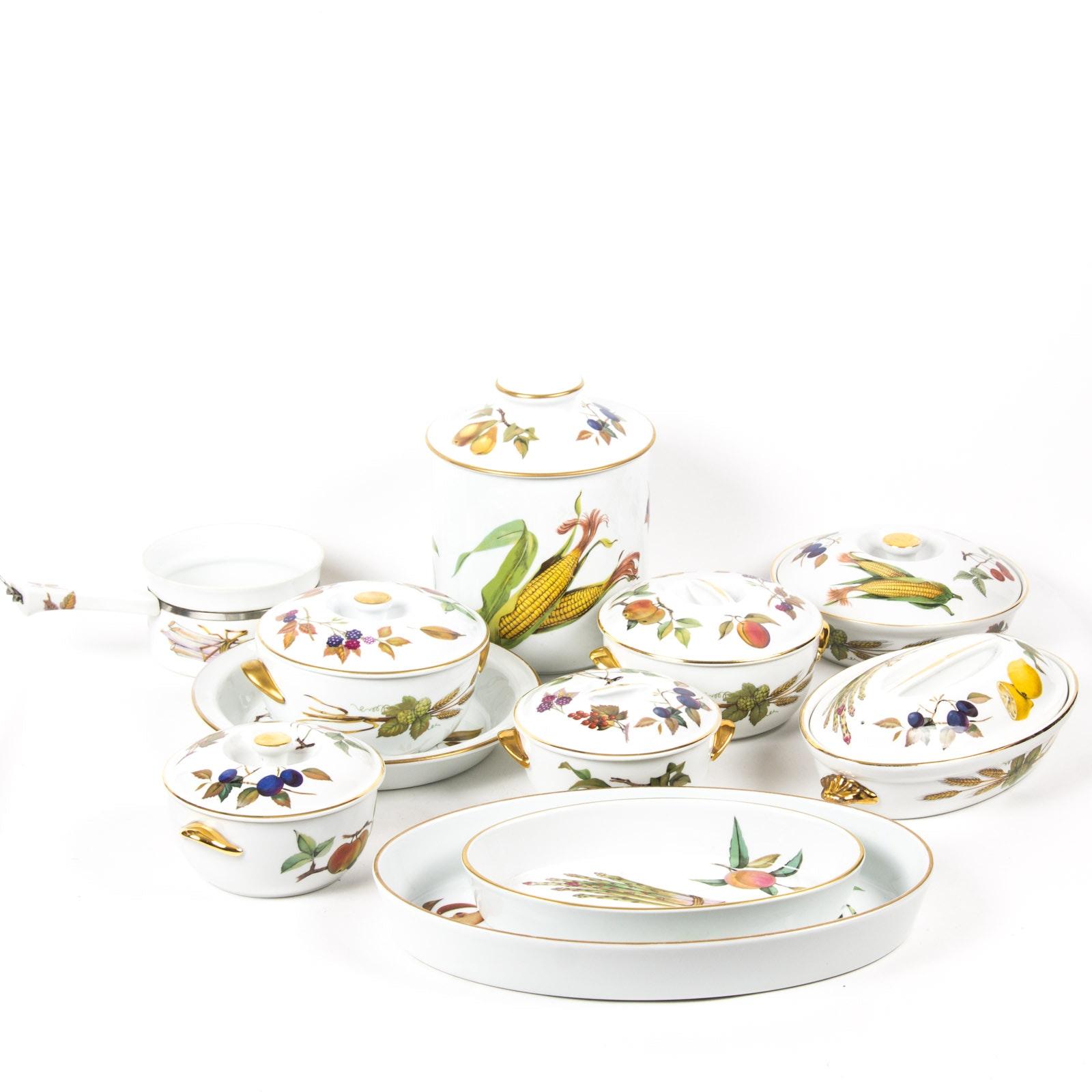 """Royal Worcester """"Evesham"""" Fine Porcelain Serveware Collection"""