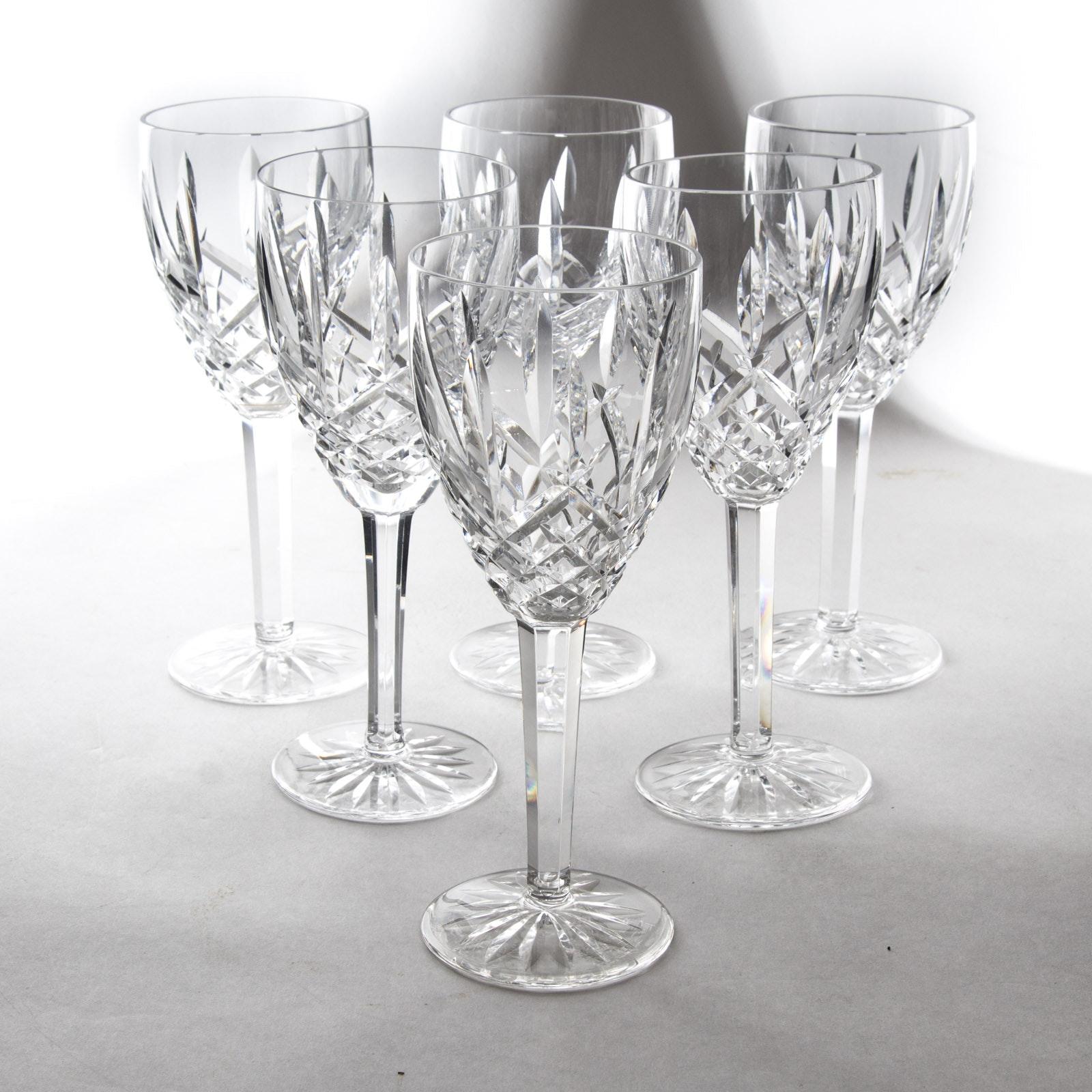 "Waterford Crystal ""Araglin"" Wine Glass Set"