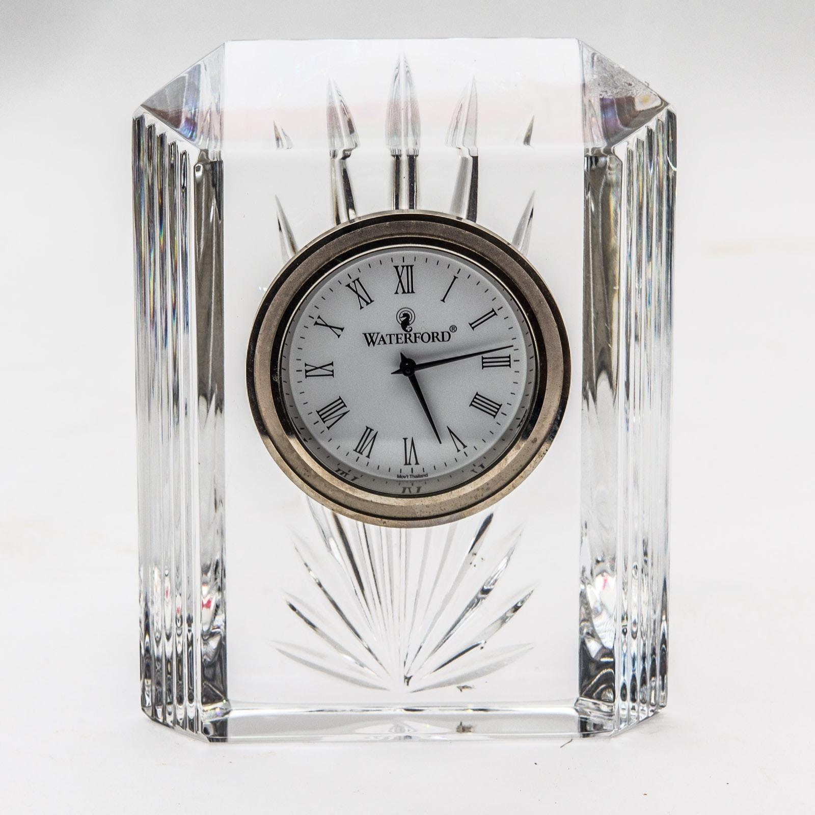 "Waterford Crystal ""Colonnade"" Mantel Clock"