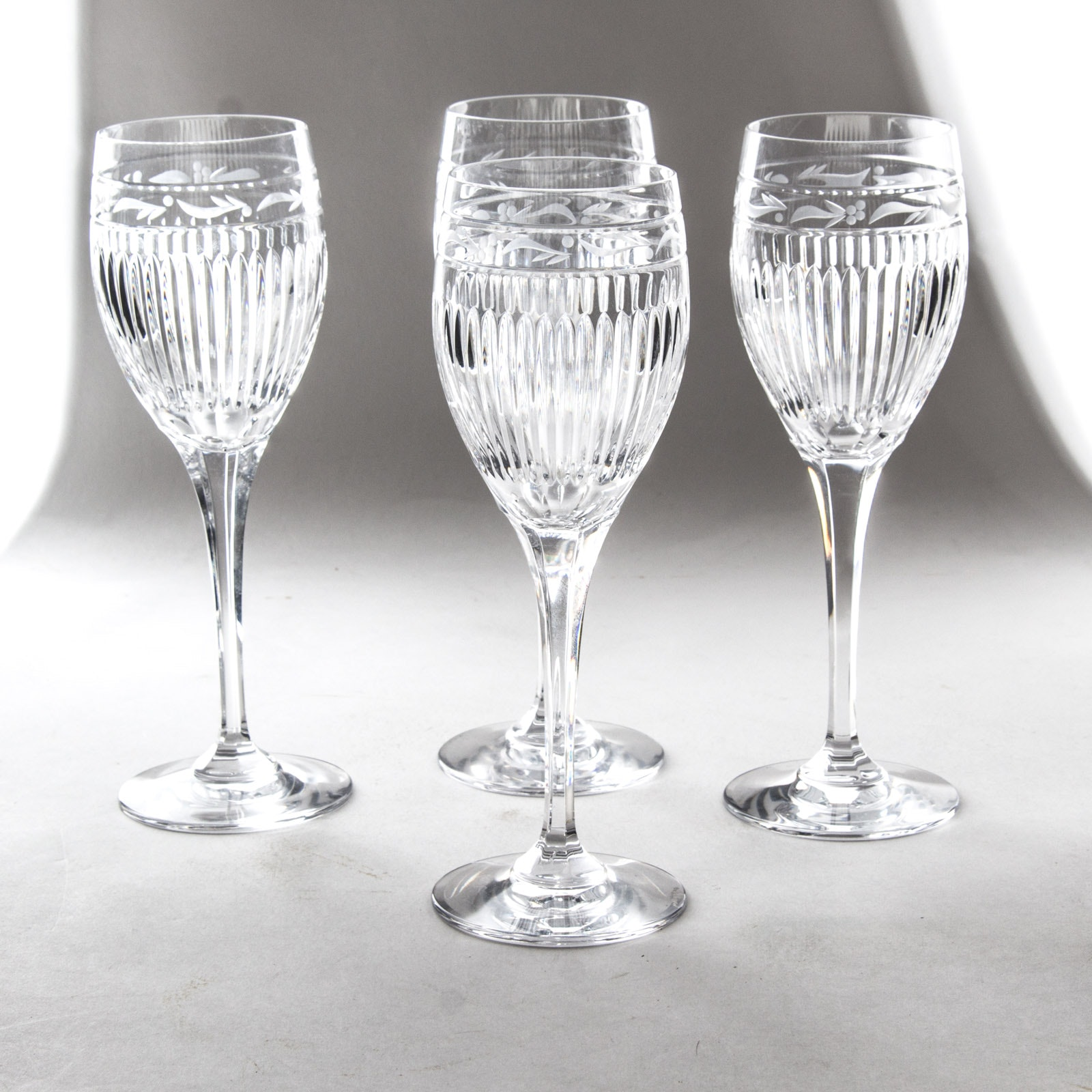 Mikasa®   Italian Countryside Cut Bowl Wine Goblets