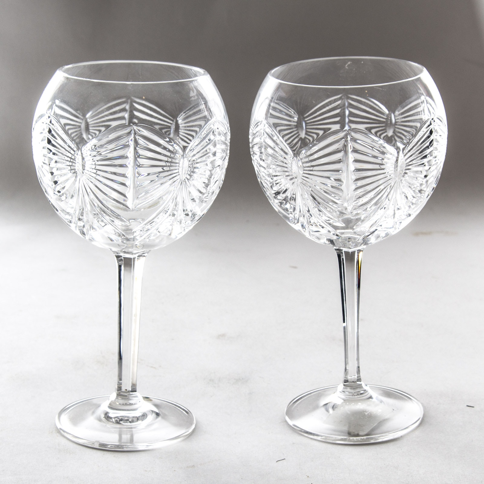 """Waterford """"Millenium Happiness"""" Crystal Toasting Goblet Pair"""