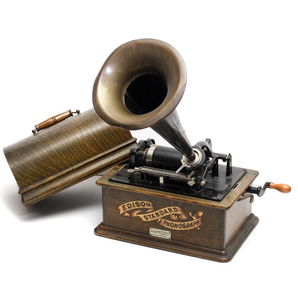 Circa 1900s Edison Standard Phonograph