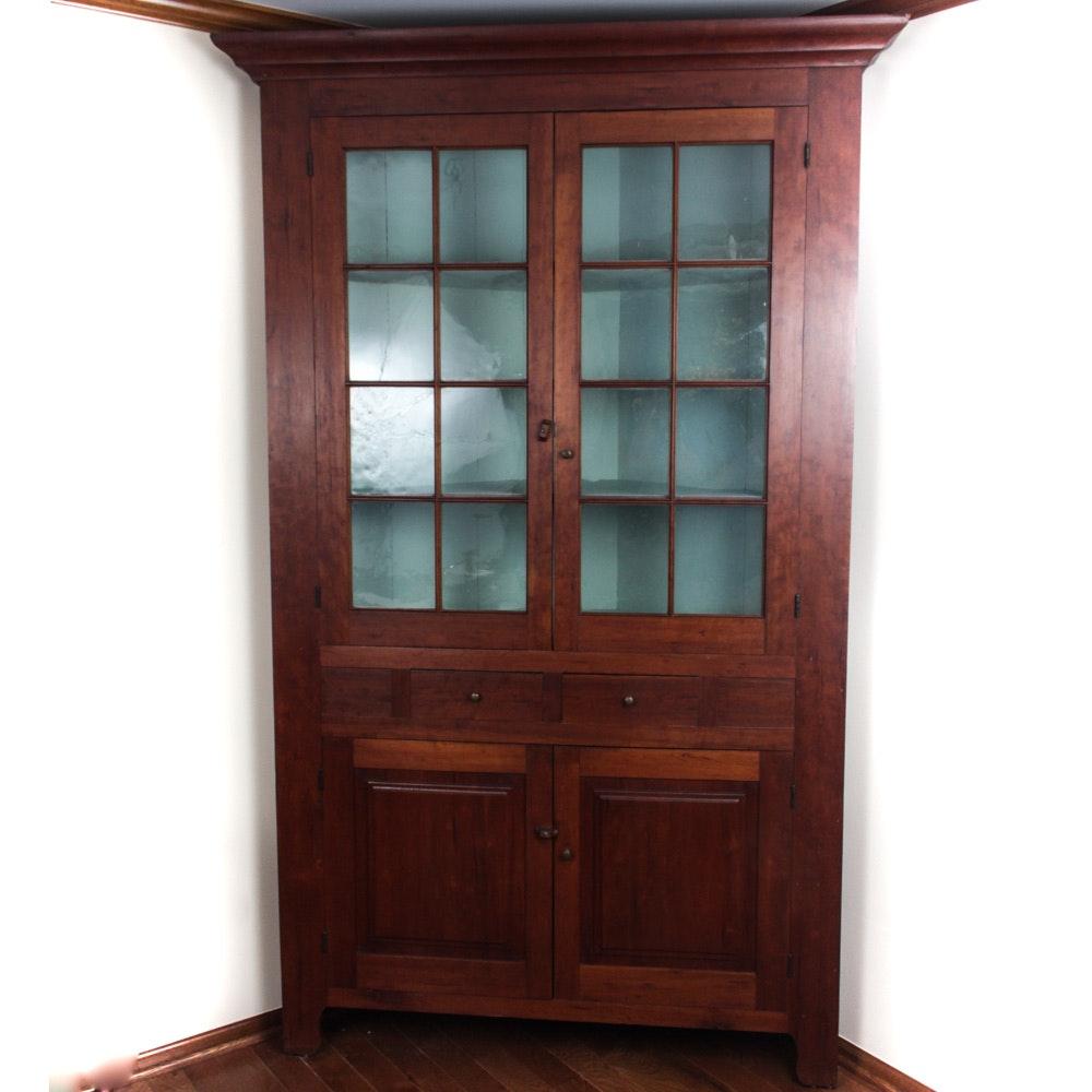 Antique Cherry Corner Cupboard