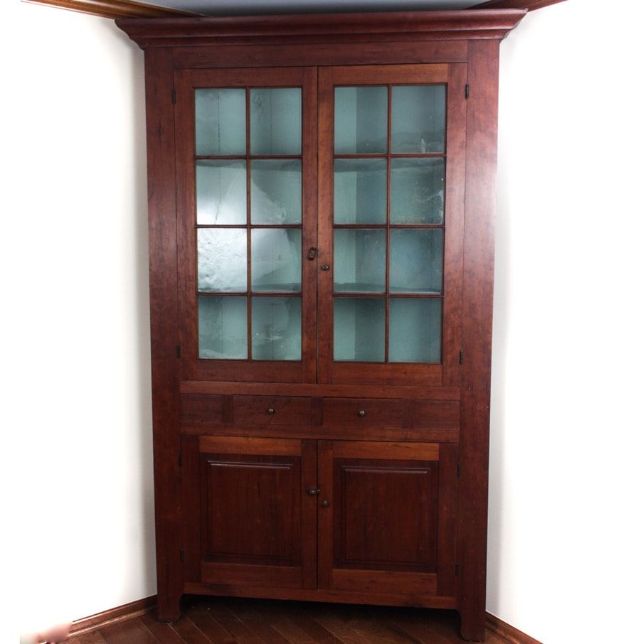 Antique Cherry Corner Cupboard ... - Antique Cherry Corner Cupboard : EBTH