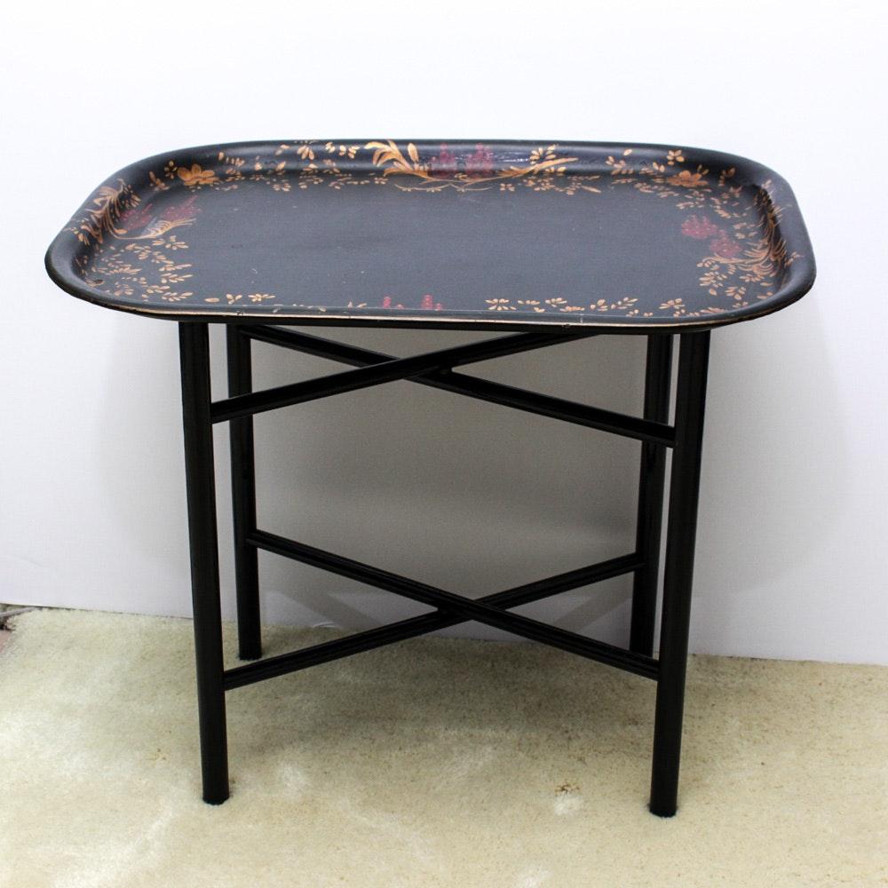 Handpainted Folding Tray Table
