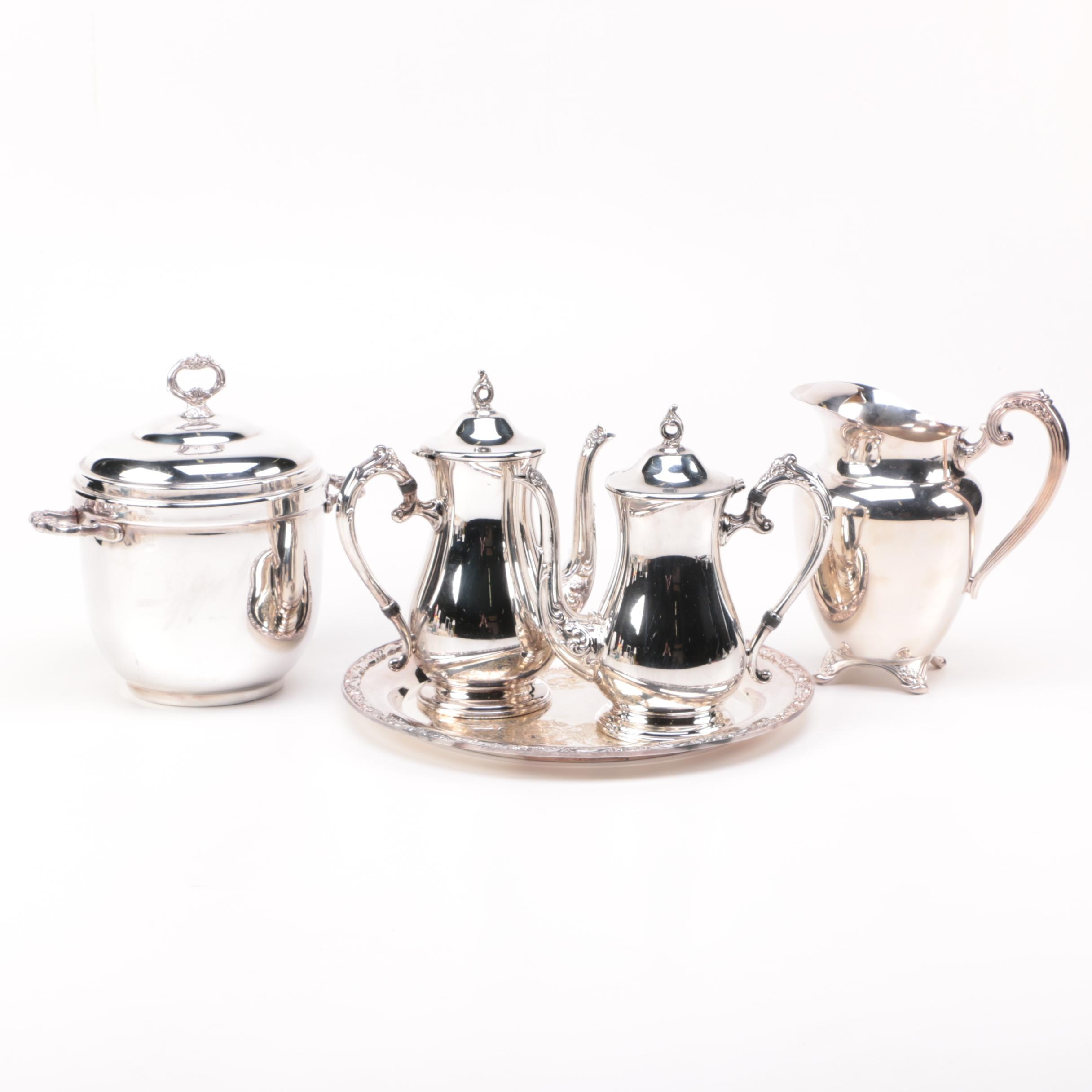 Silver Plated Servingware Including Sheridan Taunton