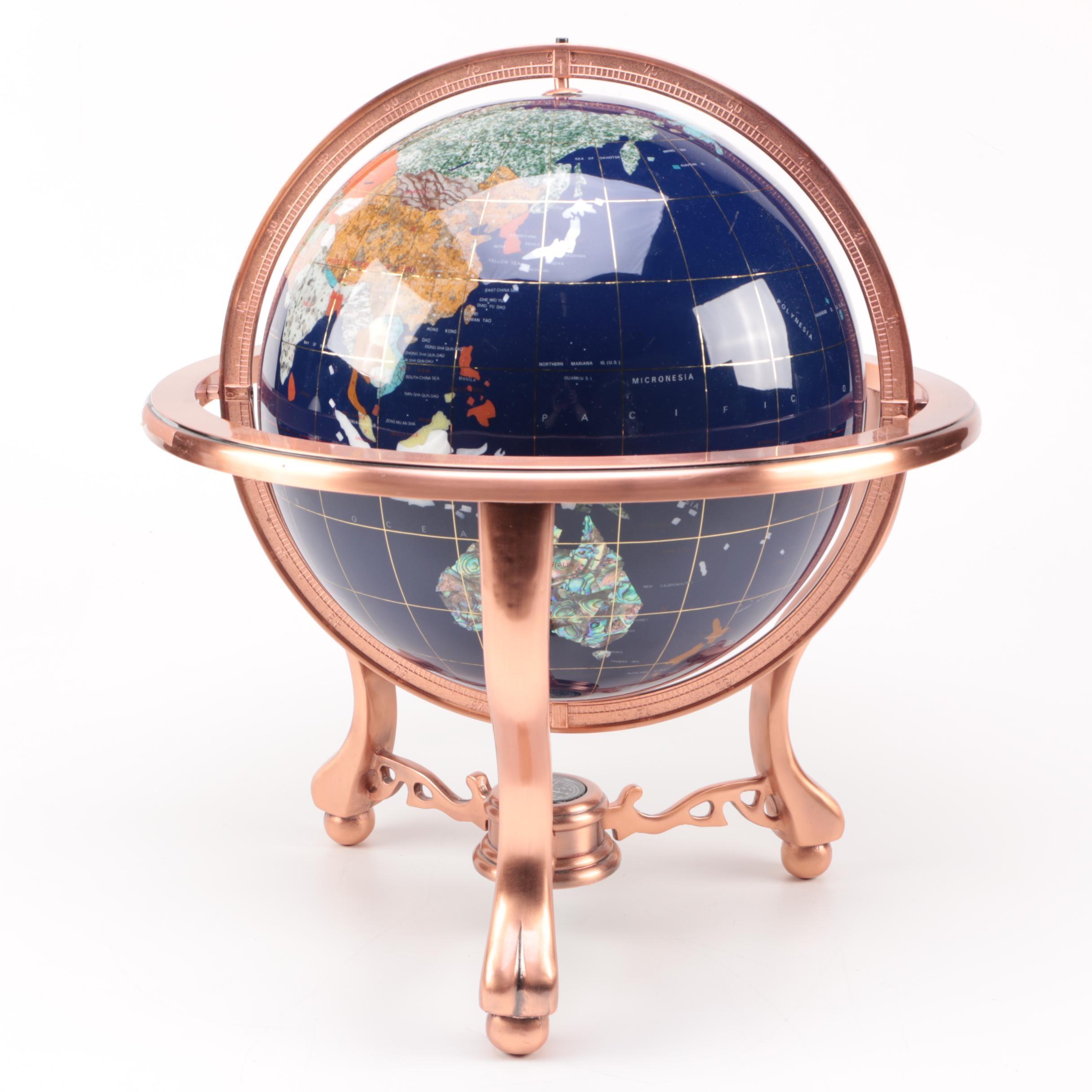 Gemstone and Marble Globe