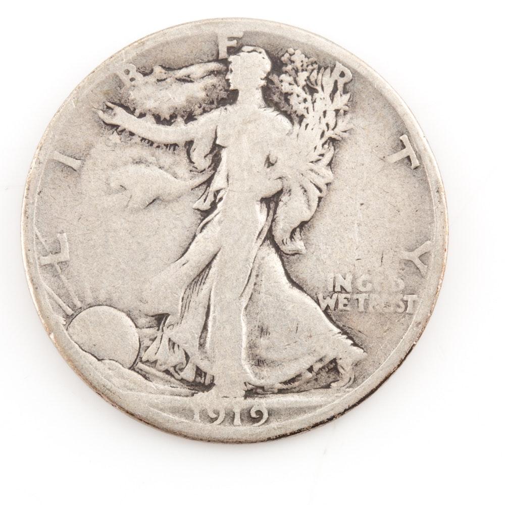 1919-S Silver Walking Liberty Half Dollar