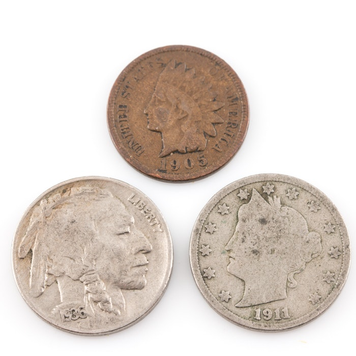 Three Piece Scarce Seldom-Seen Coin Set