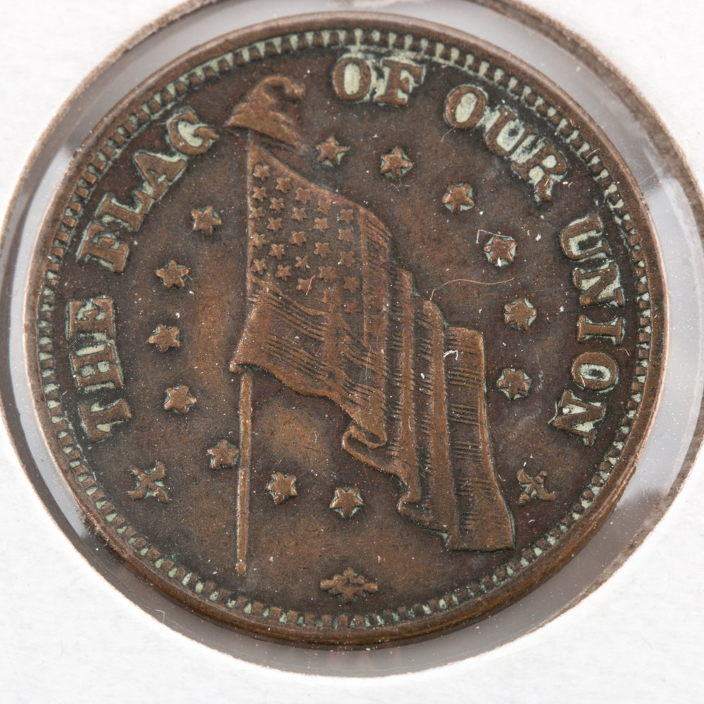 Flag of Our Union Civil War Token