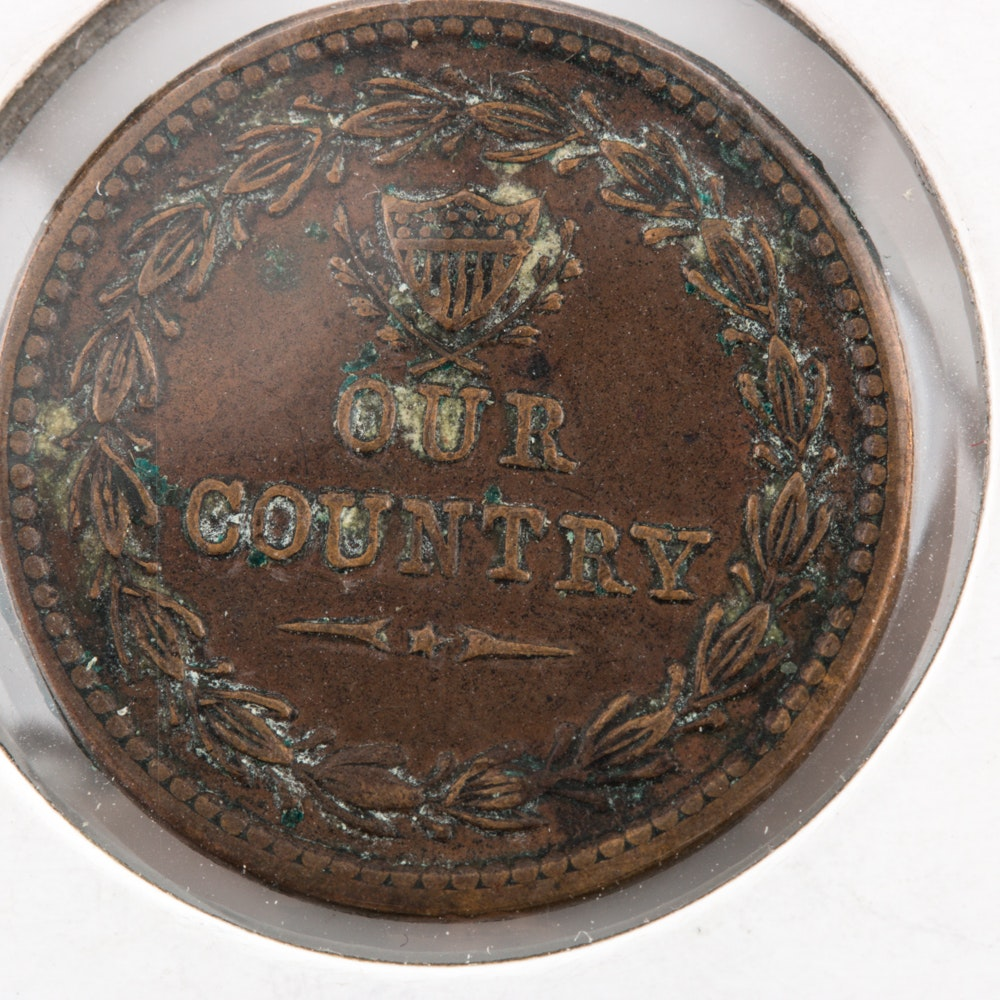 1863 - Our Country Civil War Token