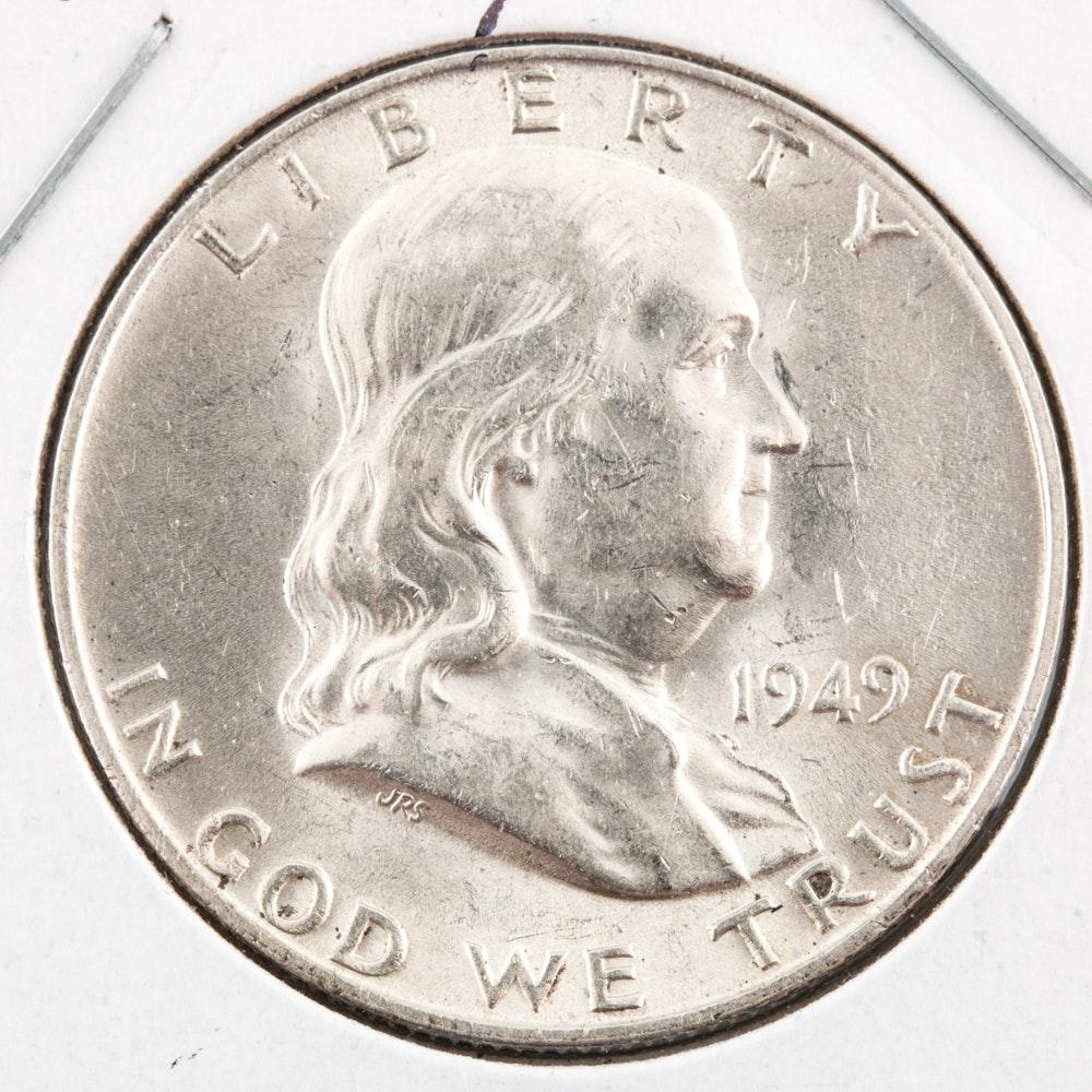 1949-D Silver Franklin Half Dollar