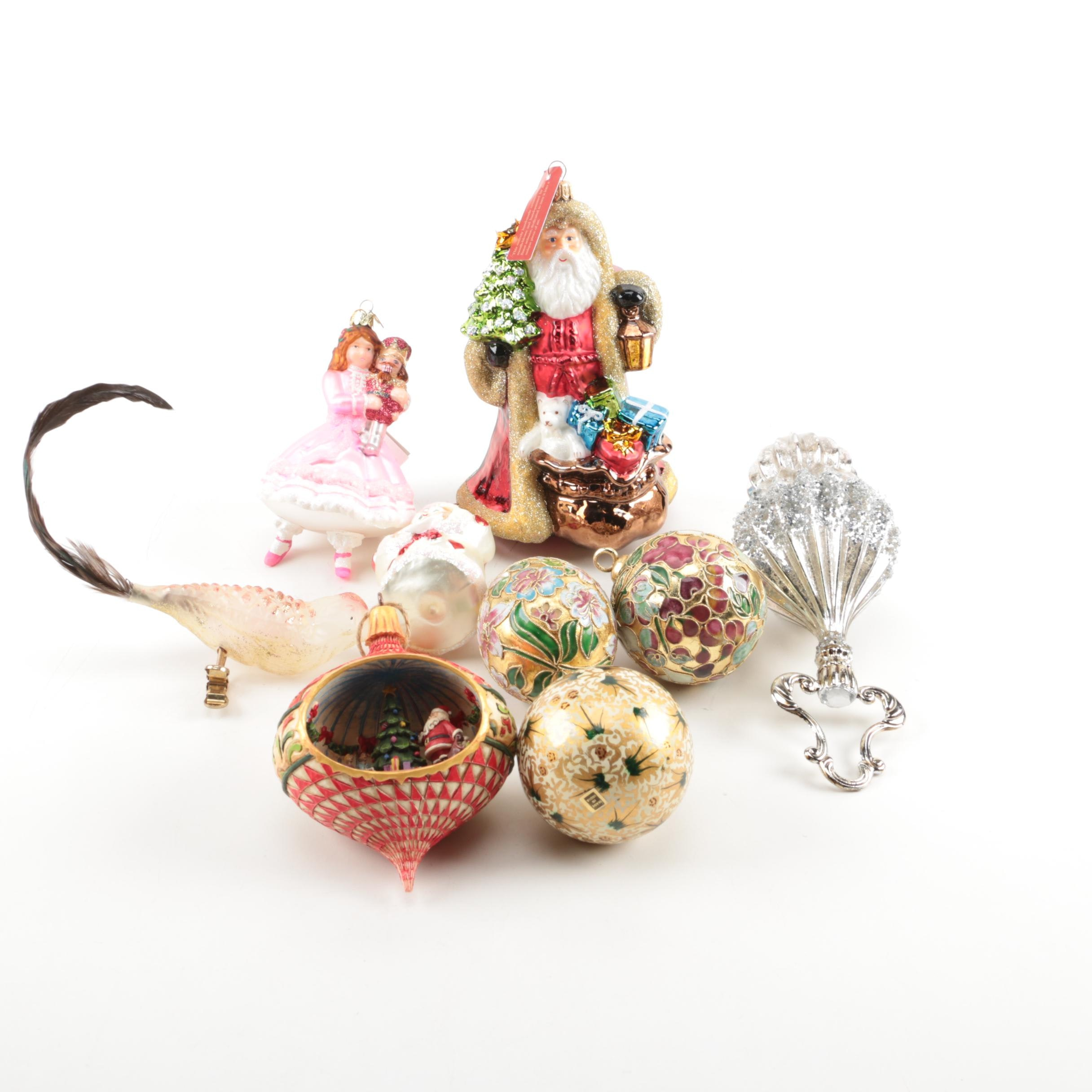 Glass and Resin Ornaments Including Noble Gems