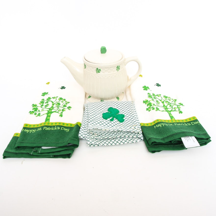 Global Design Connections By Kate Williams Shamrock Teapot And Three