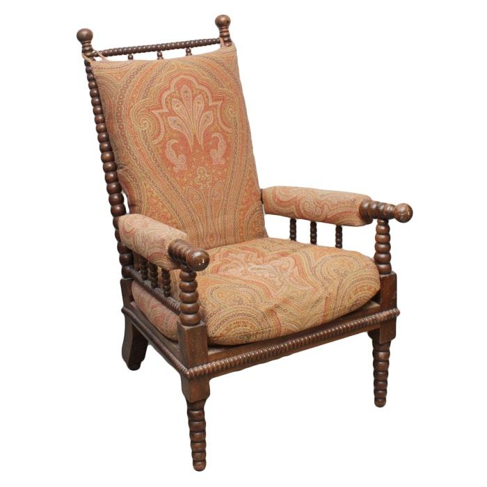 Antique Spool-Turned Walnut Armchair