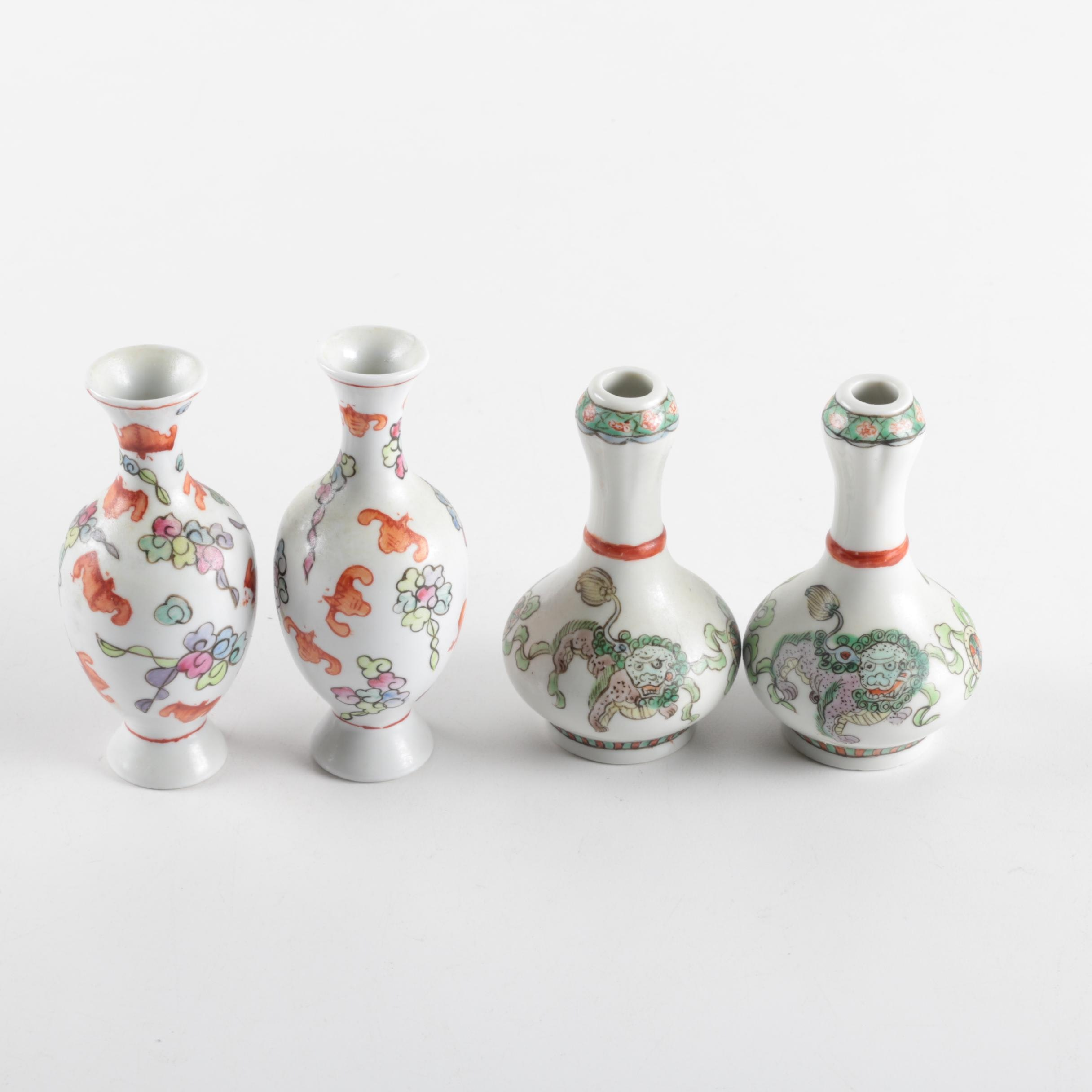 Chinese Ceramic Bud Vases