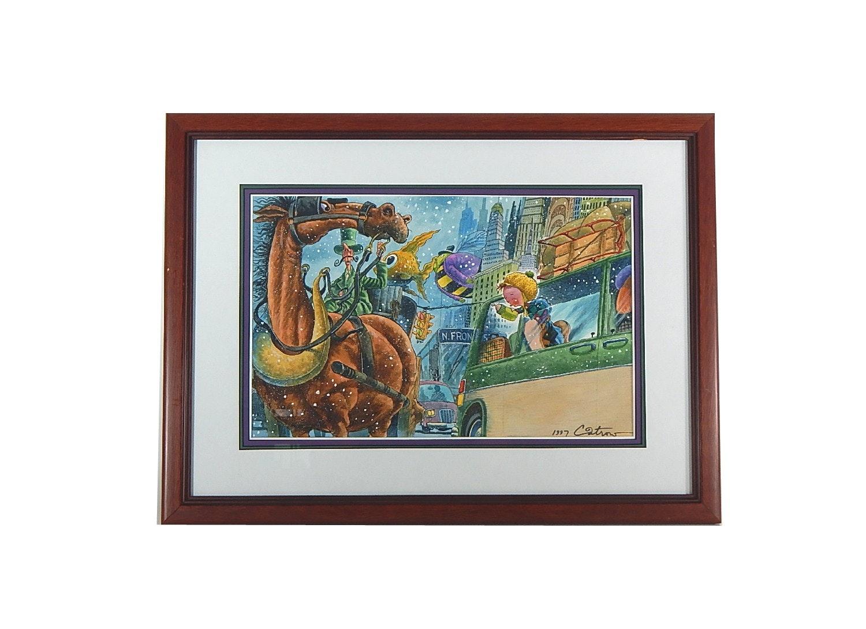David Catrow Framed Original Watercolor