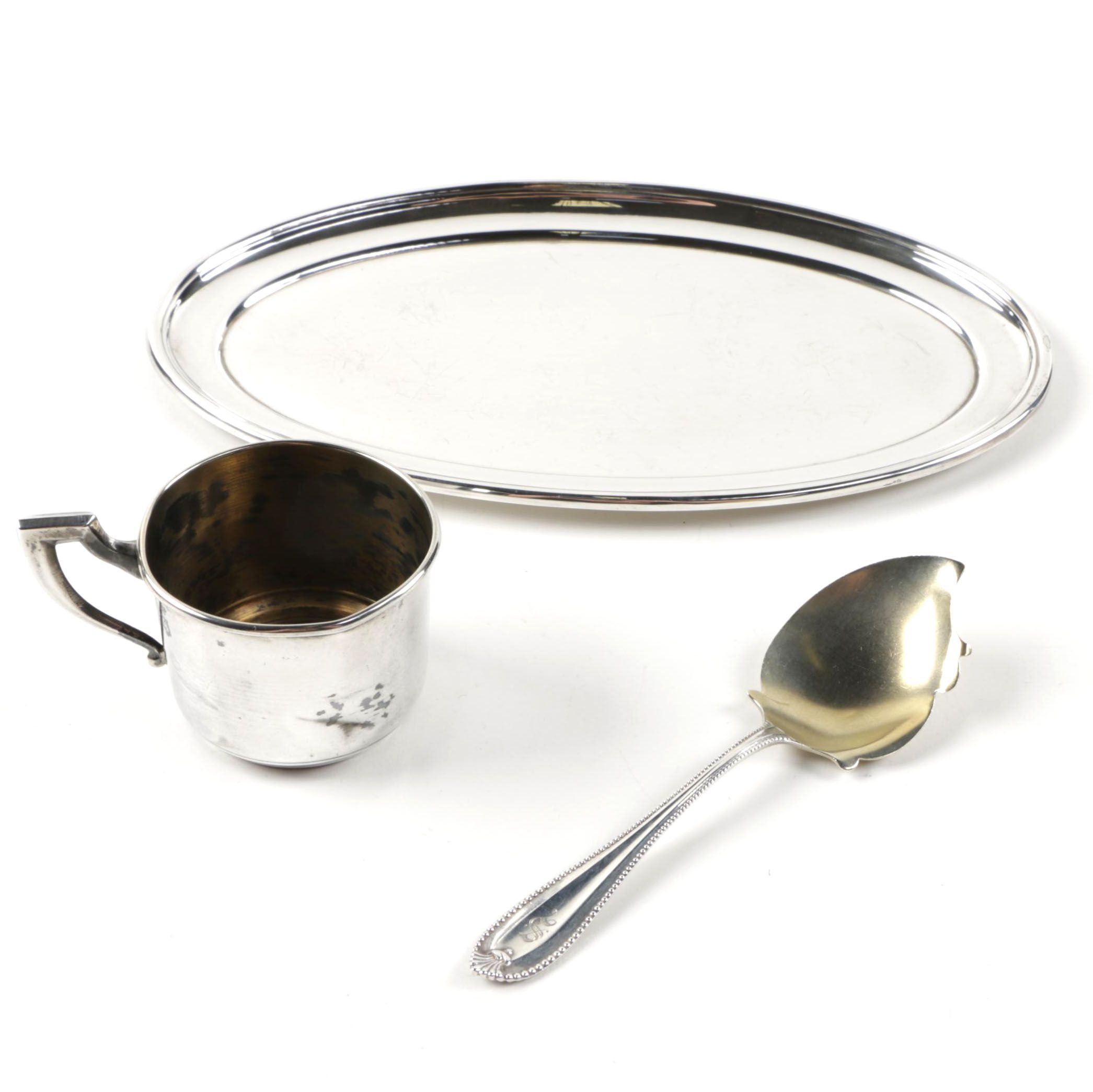 Sterling Silver Serveware with Alvin Tray
