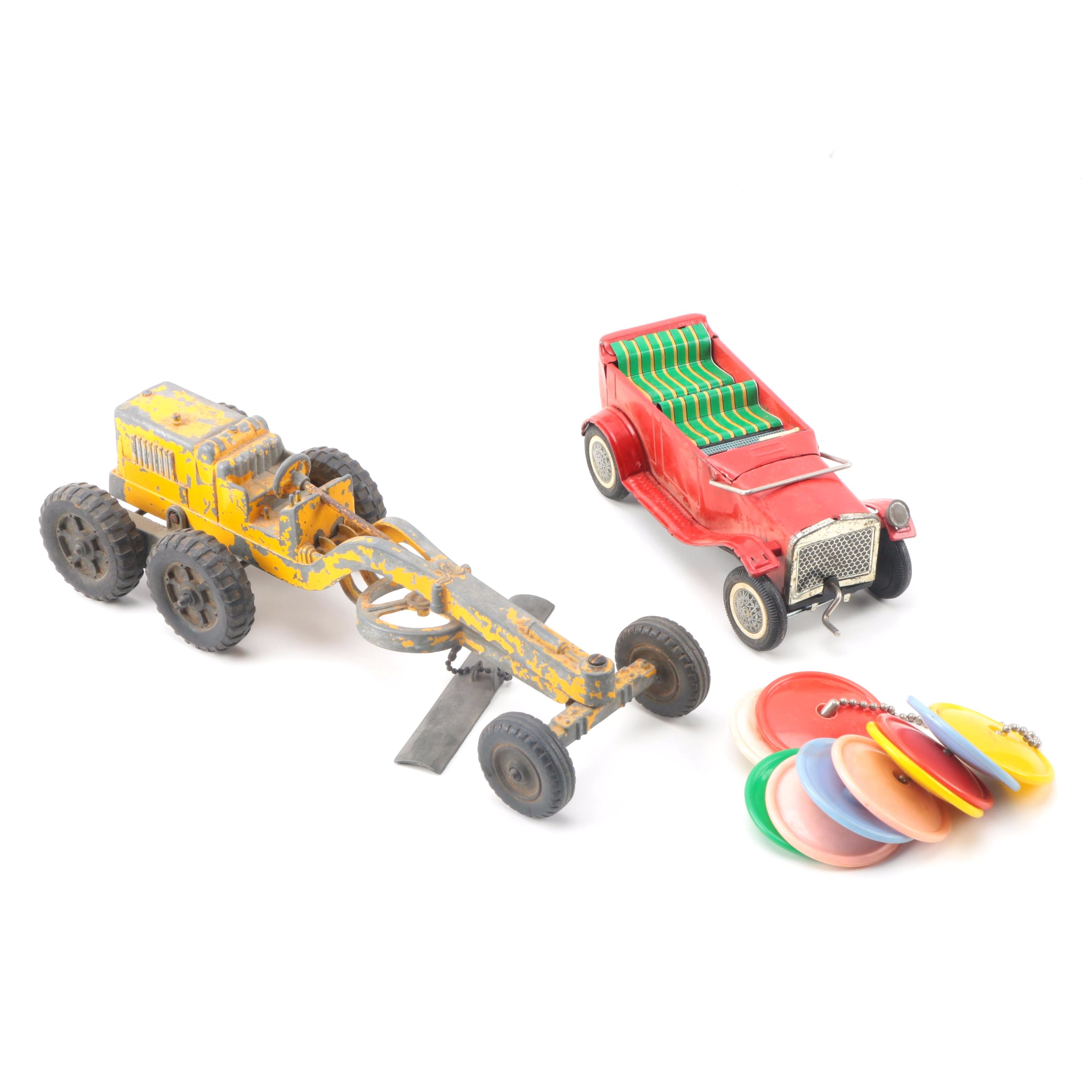 Vintage Toy Vehicles and Rings