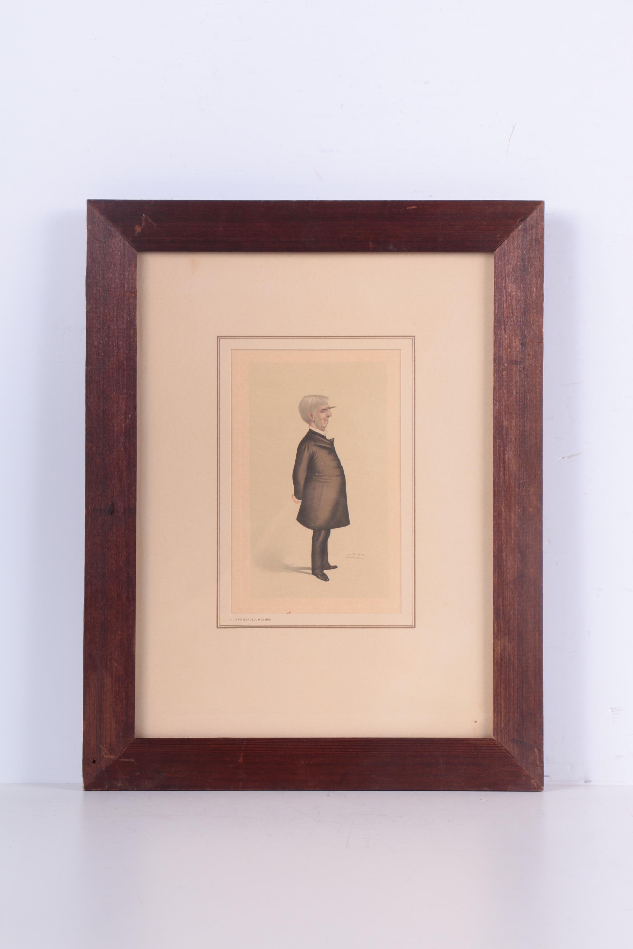 Half Tone Caricature Prints Of Famous Figures Ebth