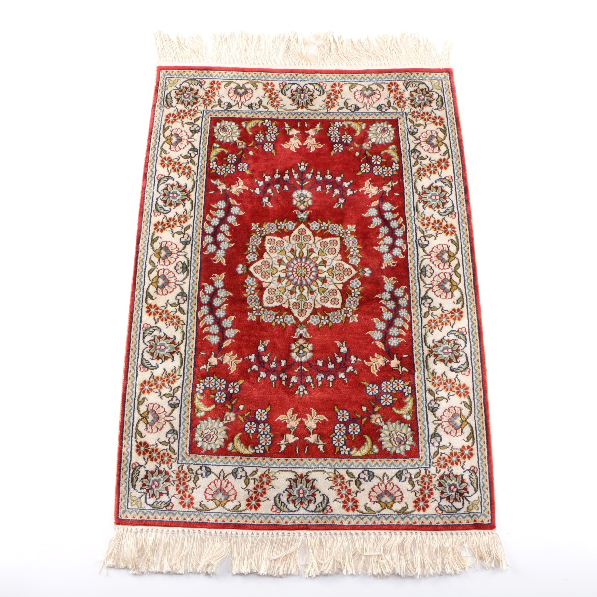 Hand-Knotted Matis Turkish Accent Rug