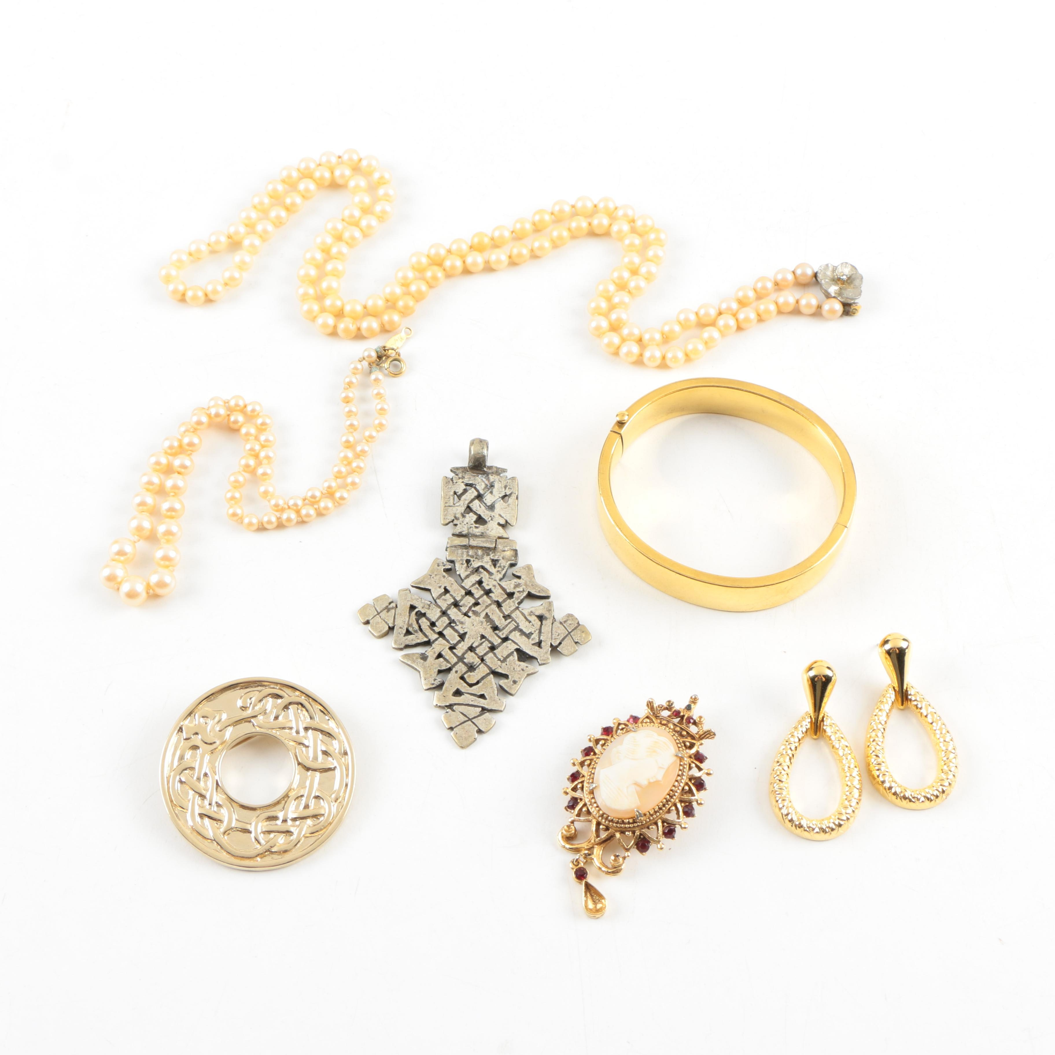 Collection of Vintage Costume Jewelry Including Florenza