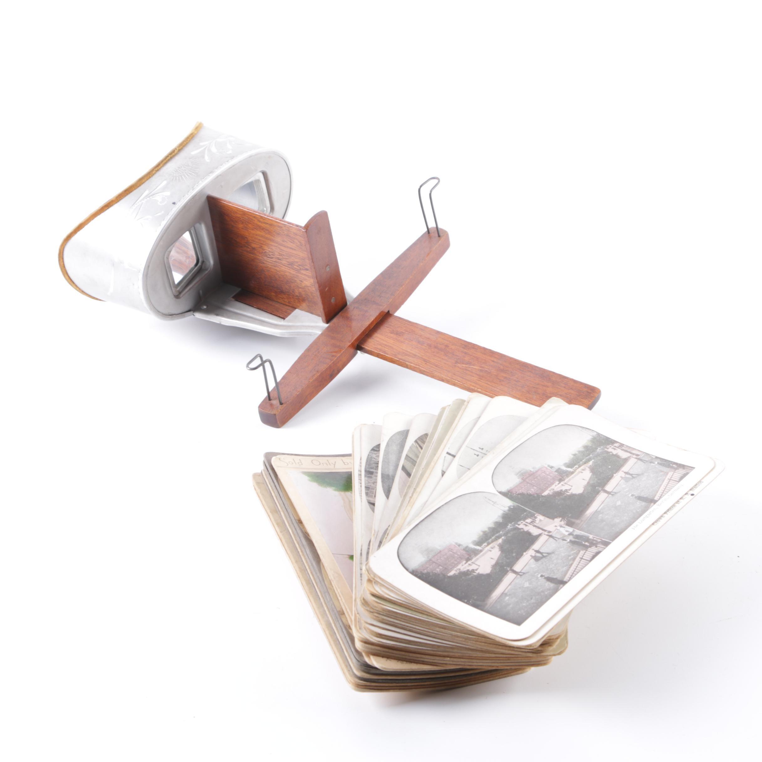 Underwood and Underwood Stereoscope and Slides