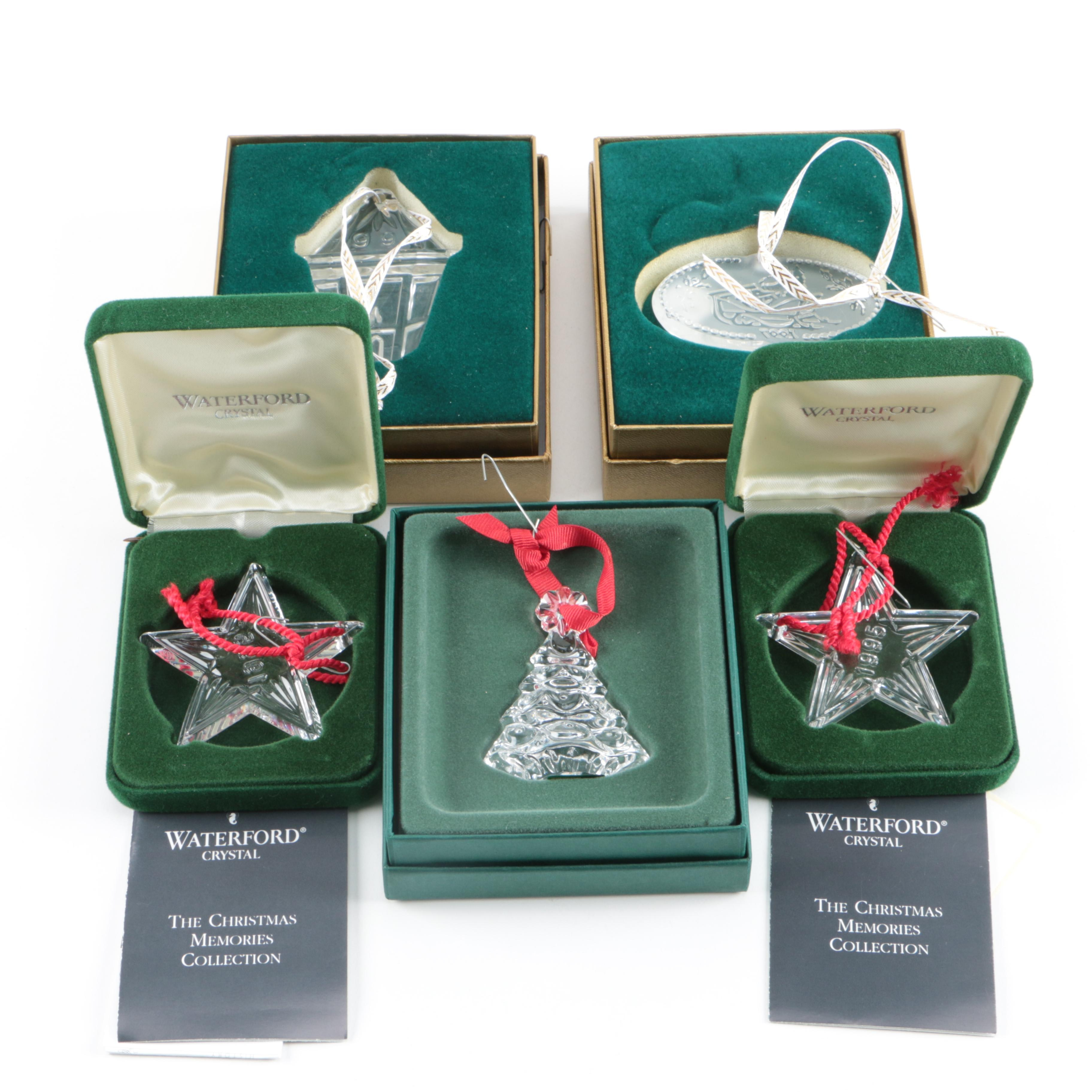 """Waterford Crystal """"The Christmas Memories Collection"""" Ornaments"""