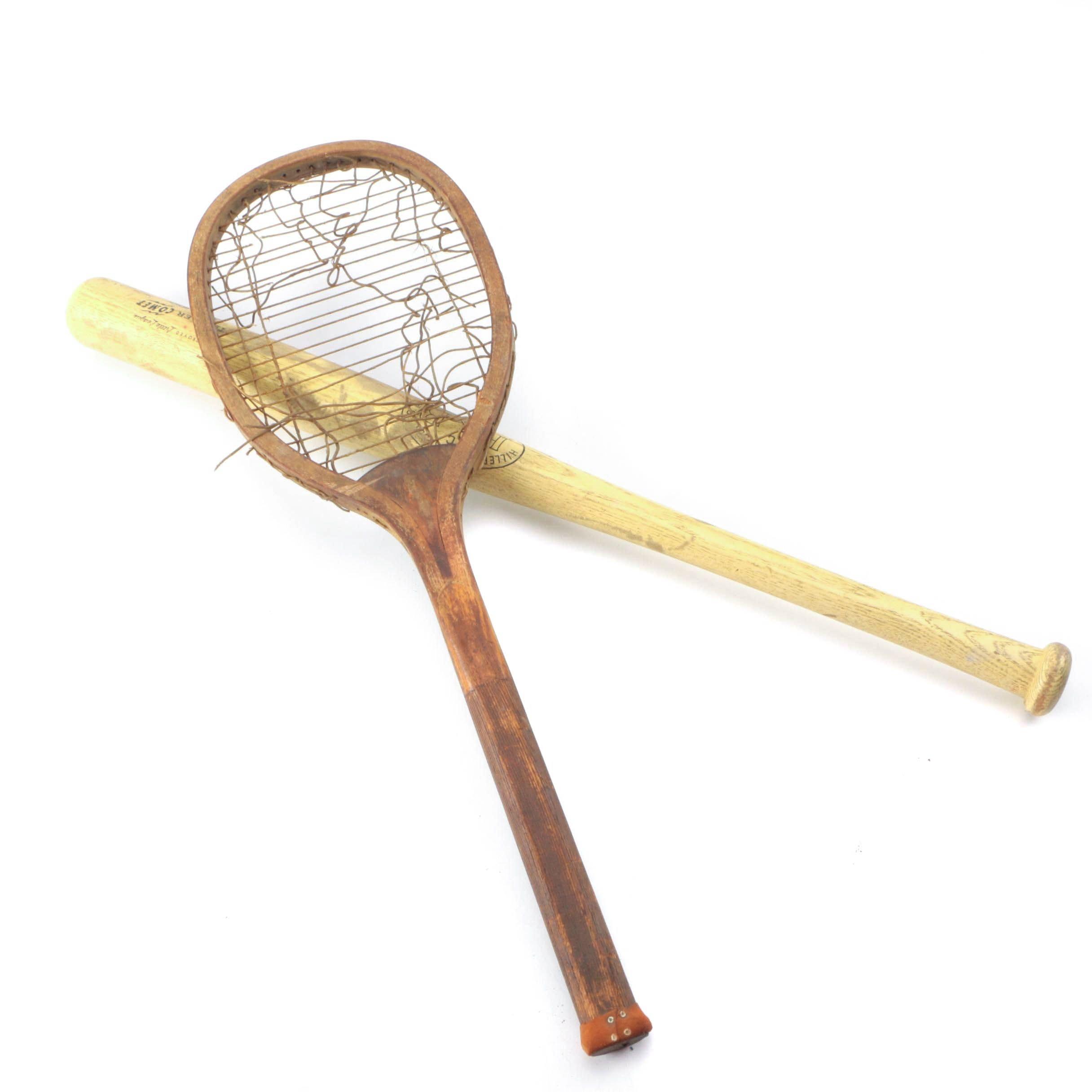 Tennis Racquet and Baseball Bat
