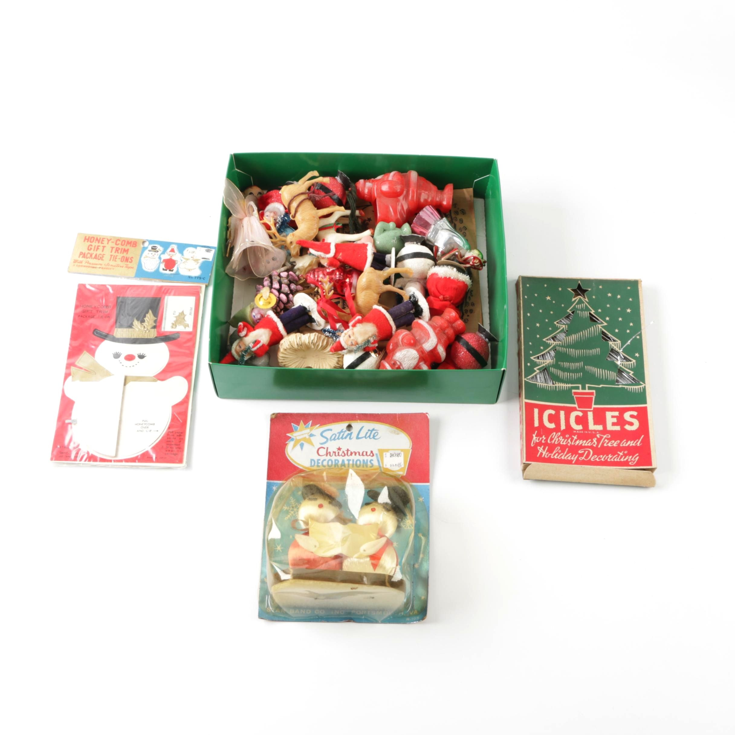 Vintage Christmas Ornaments, Figurines and Icicles
