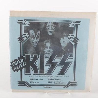 """KISS """"Fried Alive!"""" Fan Club LP On Red Splatter Vinyl"""