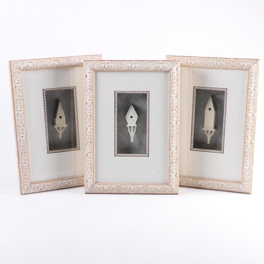 Set of Three Miniature Carved \