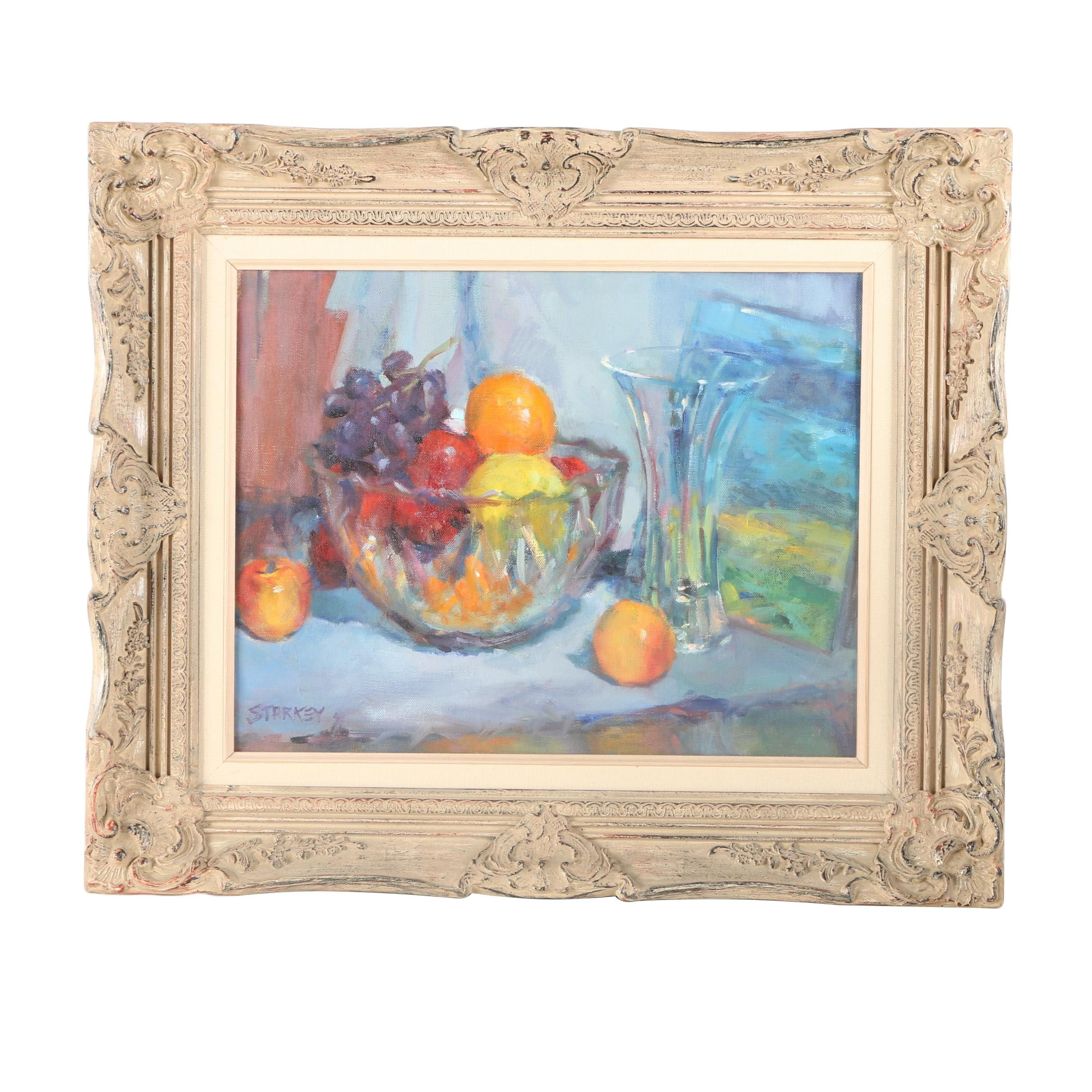 Starkey Oil Painting on Canvas of Still Life