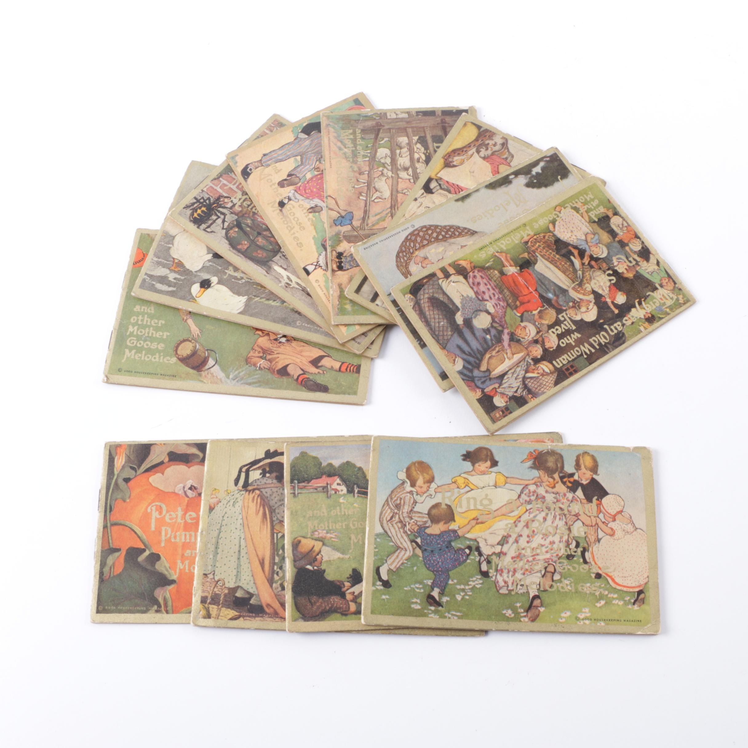 """Early 20th Century Collection of """"Mother Goose Melodies"""" Pamphlets"""