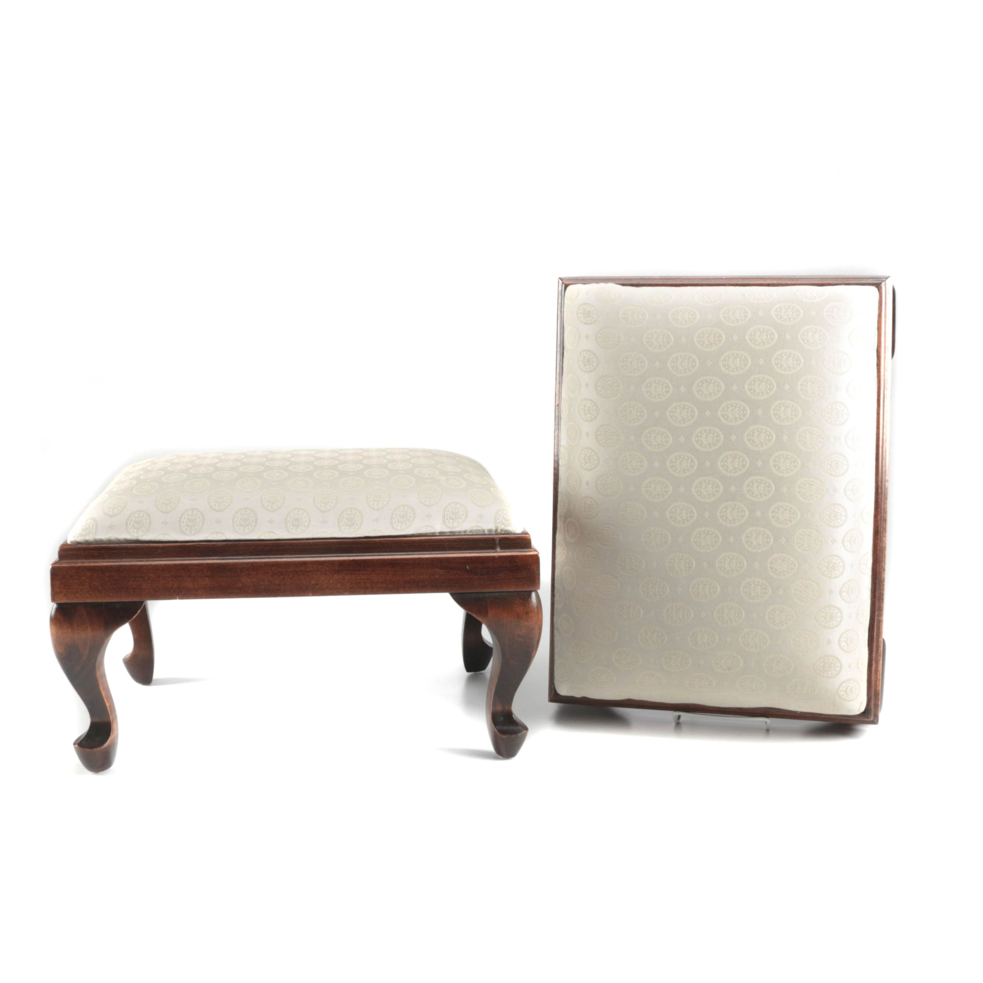 Pair of Queen Anne Style Footstools by the Ammerman House
