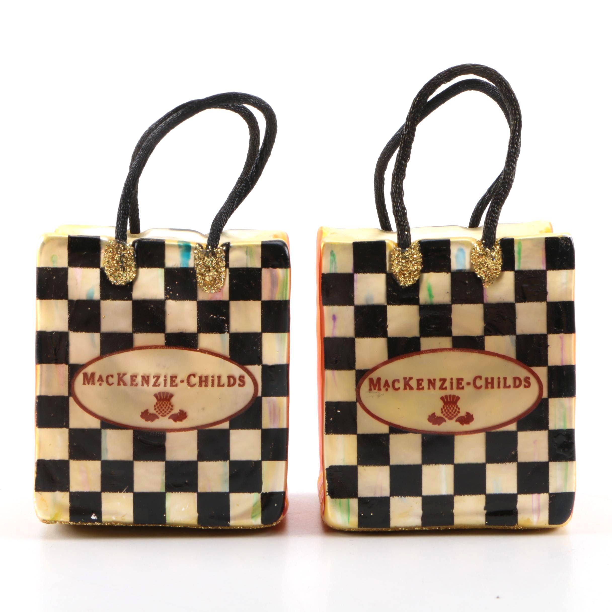 McKenzie-Childs Glass Christmas Ornaments